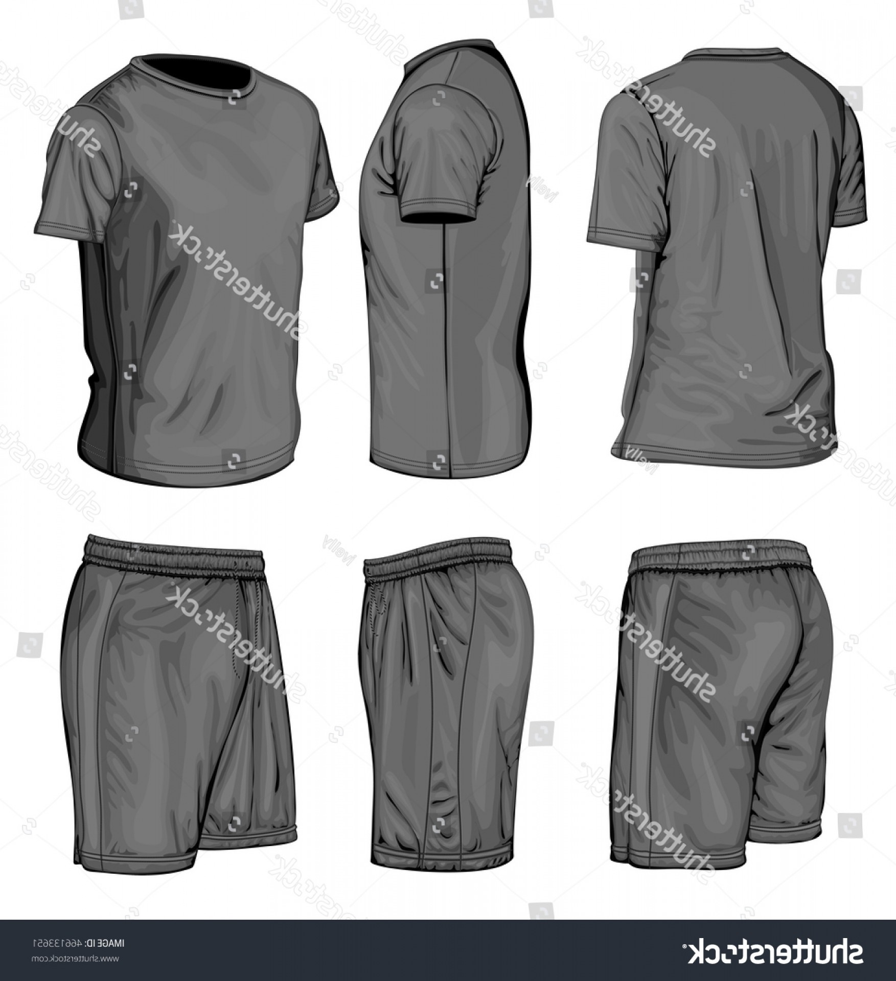 Vector Sport Spot: Mens Short Sleeve Tshirt Sport Shorts