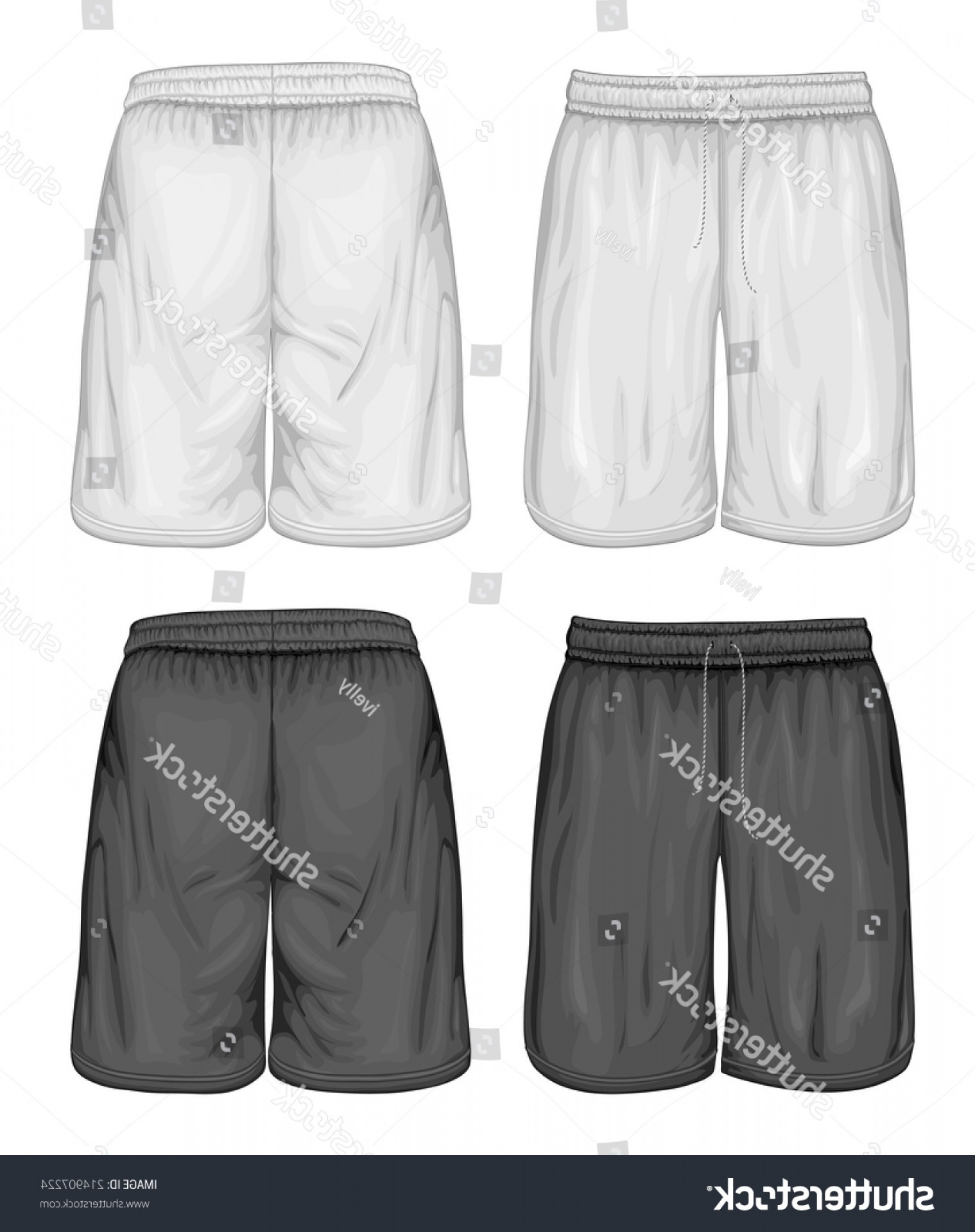 Vector Sport Spot: Mens Sport Shorts Vector Illustration Spot