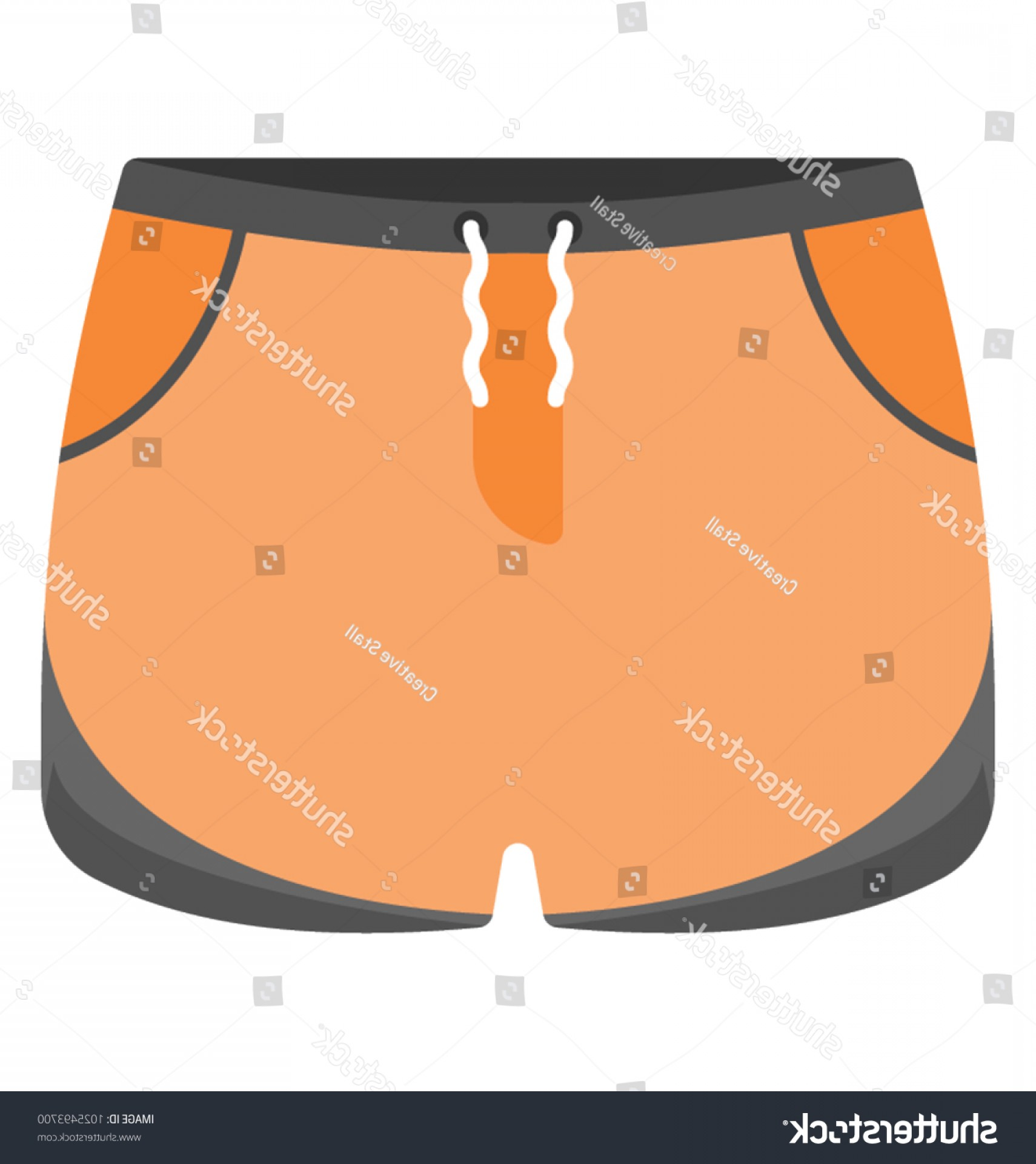 Underwear Icon Design Vector: Mens Underwear Skivvies Vector Icon Flat