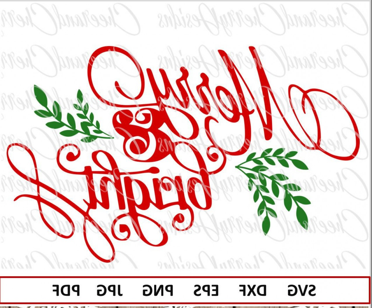 Christmas Vector Sayingd: Merry And Bright Svg For Christmas Svg