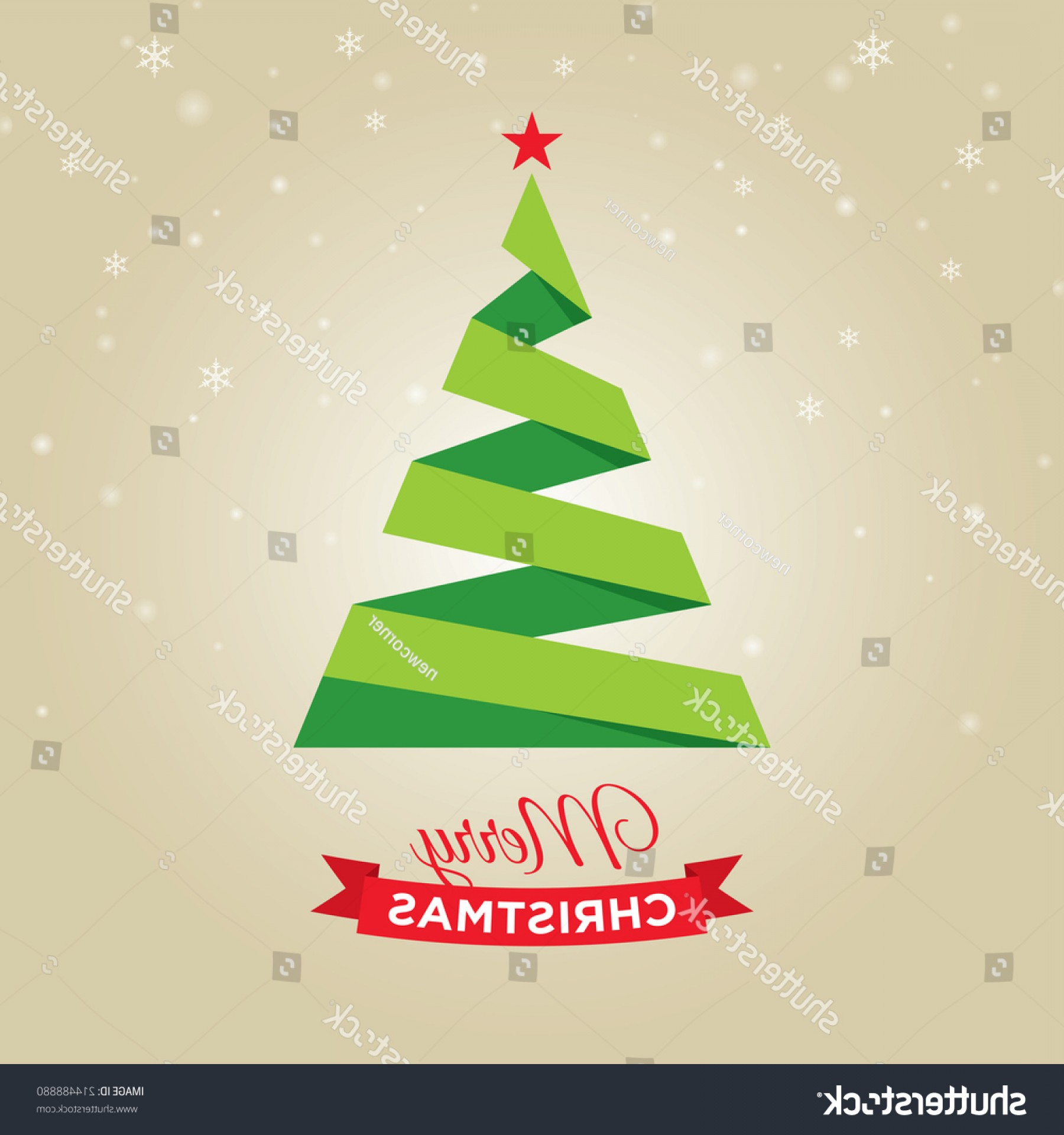 Less Christmas Tree Abstract Vector Background: Merry Christmas Card Graphic Tree Gold