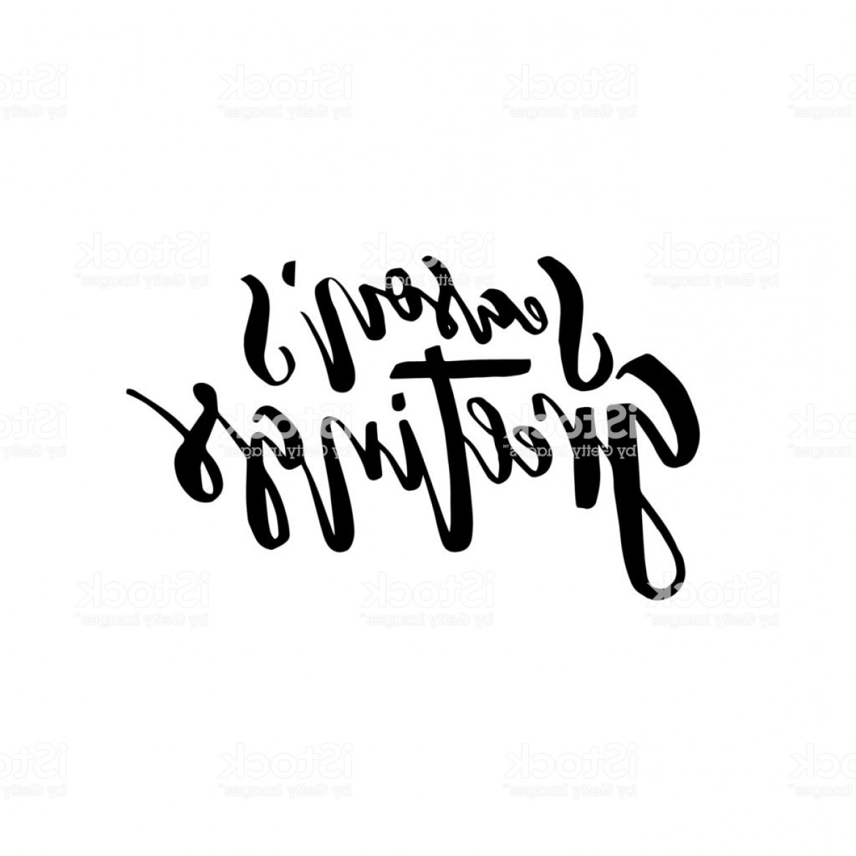 Season S Greetings Vector Free: Merry Christmas Card With Calligraphy Seasons Greetings Vector Illustration Gm