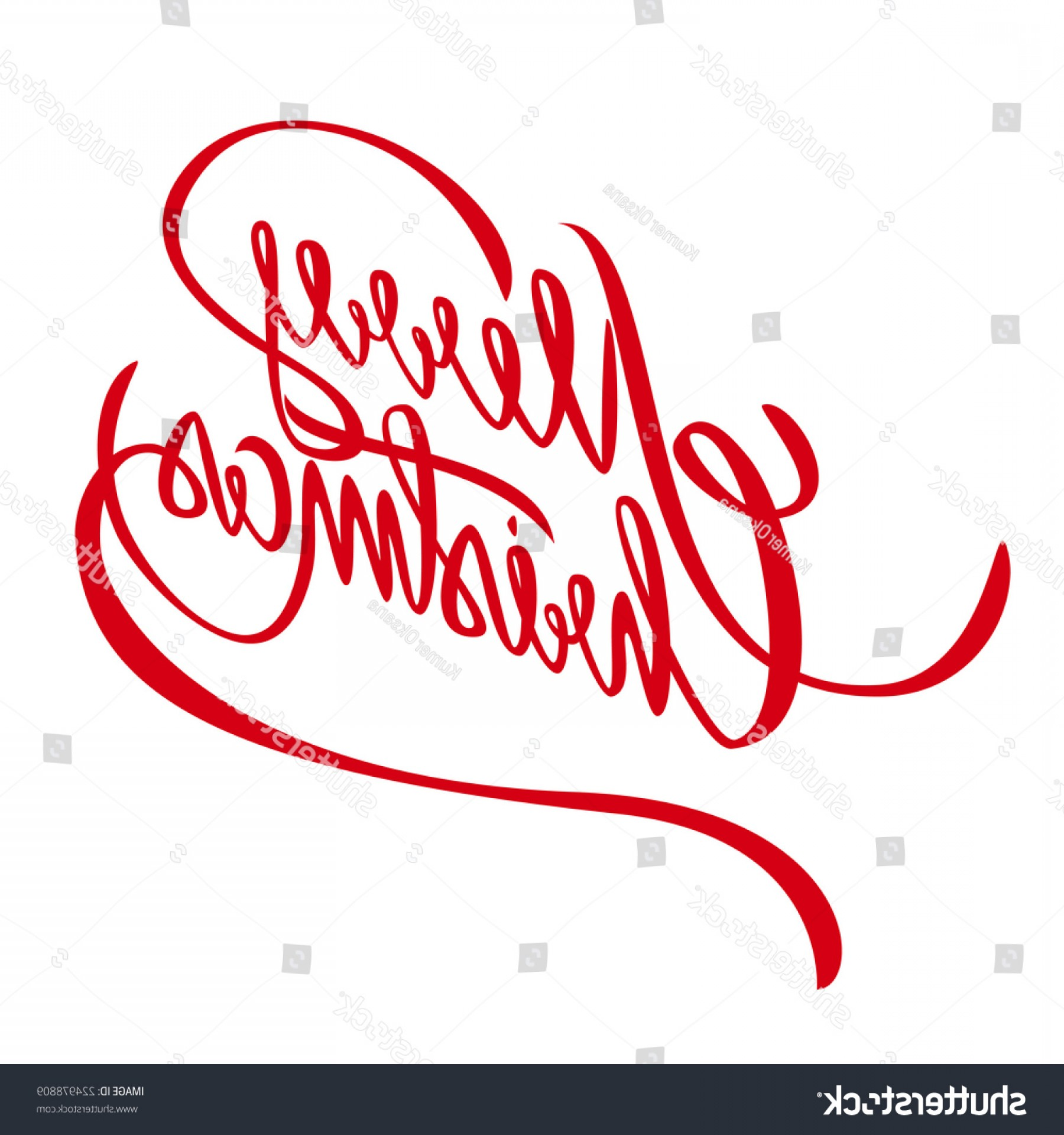 Merry Christmas Vector Graphic: Merry Christmas Vector Lettering Handmade Calligraphy