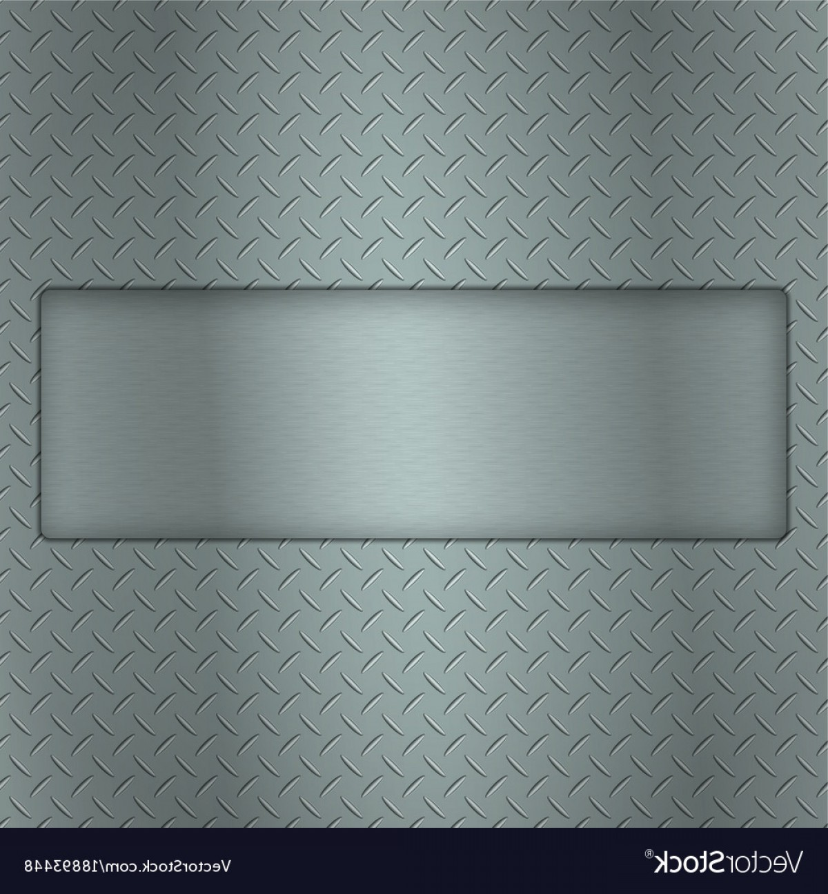 Tread Plate Vector: Metal Background Of Tread Plate Texture With Gap Vector