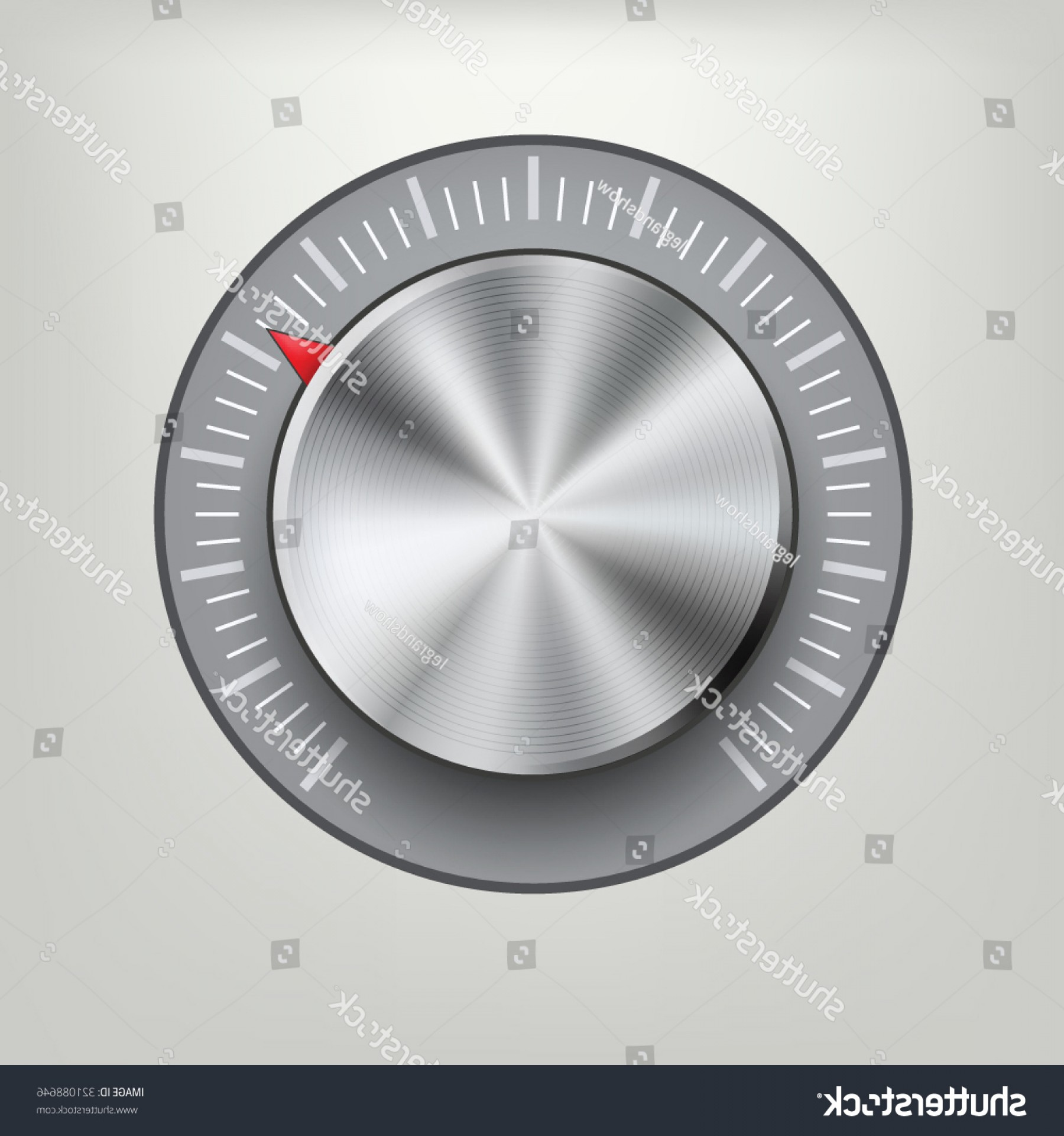 Volume Button Vector: Metal Volume Button Vector Illustration