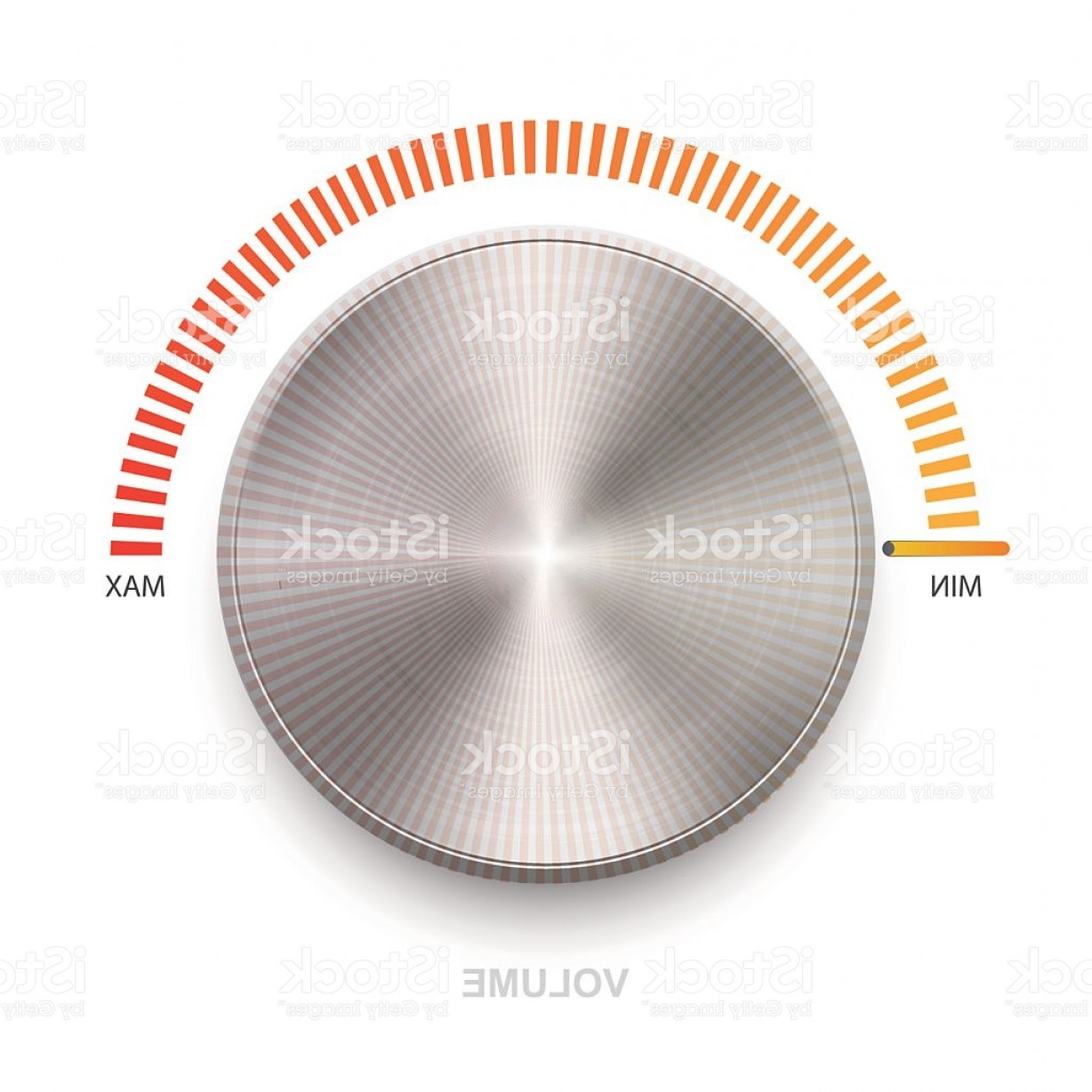 Volume Button Vector: Metal Volume Sound Button Gm