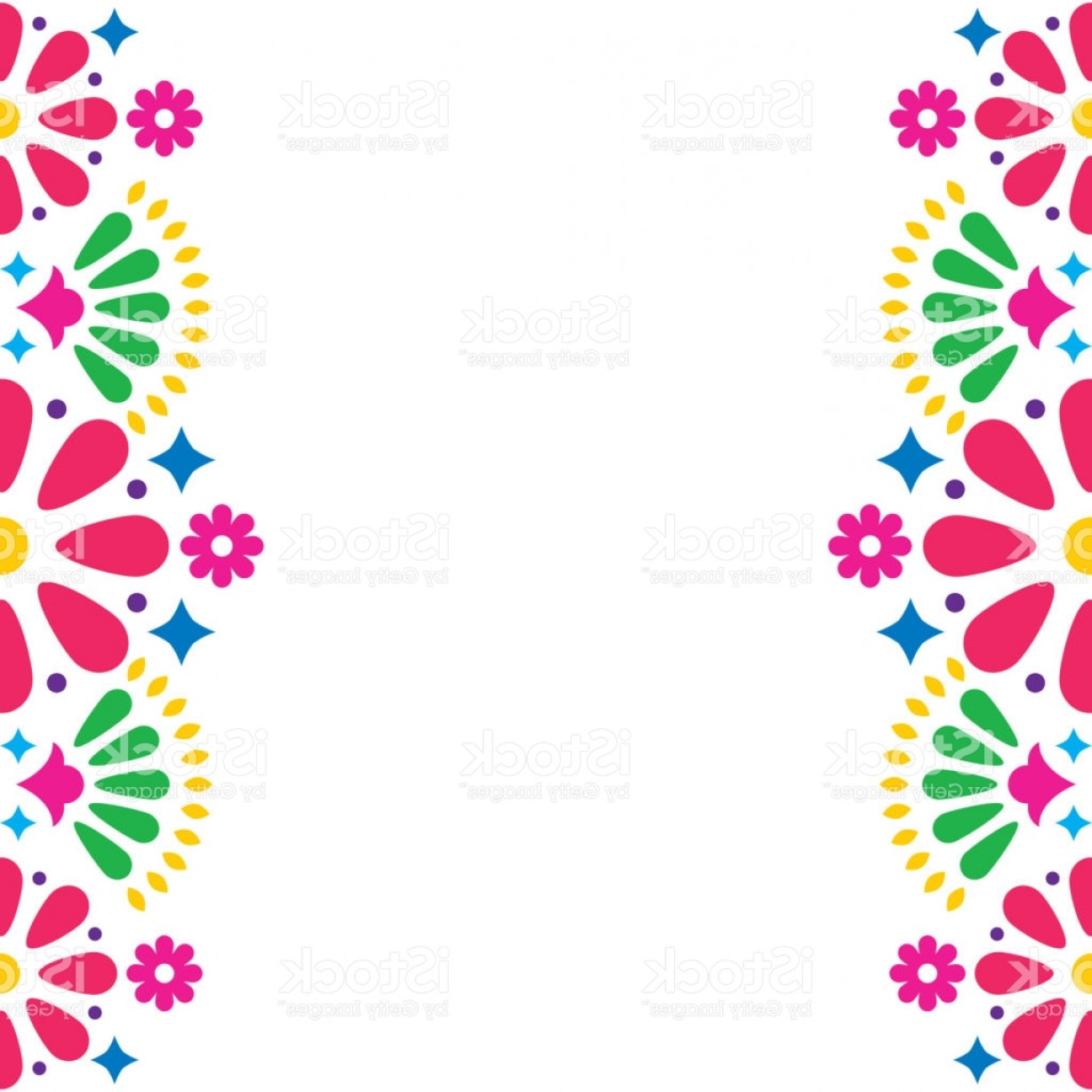 Birthday Card Vector Frame Designs: Mexican Folk Vector Wedding Or Party Invitation Greeting Card Colorful Frame Design Gm