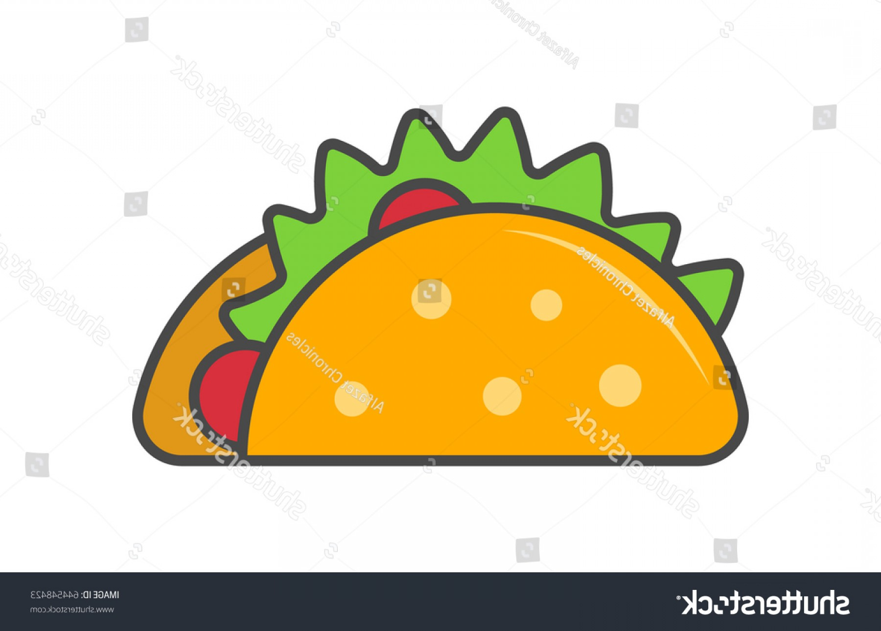 Vector Mexican Tacos: Mexican Taco Vector Illustration Isolated On