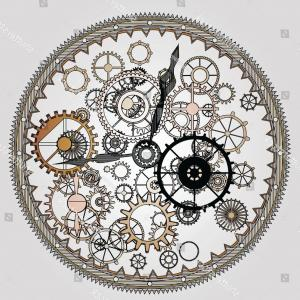 Watch Gears Vector: Mechanical Steampunk Vintage Clock Cogs Gears