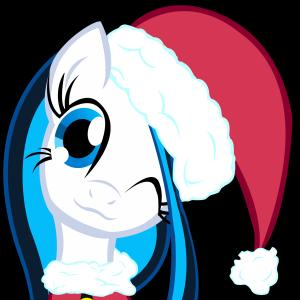 Santa Hat Vector Logo: Melody Breeze In A Santa Hat