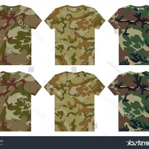 Military T-Shirt Designs Vectors: Mens Military Shirts Front Back View