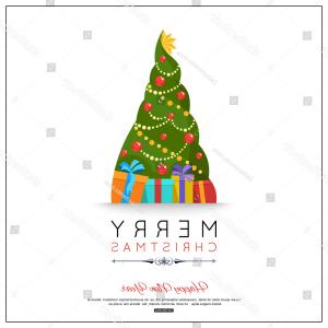 Christmas Tree Art Large Vector Format: Merry Christmas Happy New Year Greeting