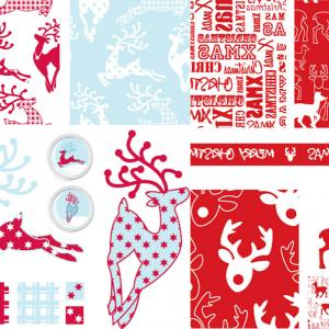 Merry Christmas Vector Graphic: Merry Christmas Patterns Vector Set