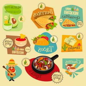 Vector Mexican Tacos: Stock Illustration Vector Mexican Taco With Meat
