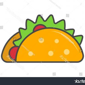 Vector Mexican Tacos: Sympathetic Cactus With A Mexican Taco Vector