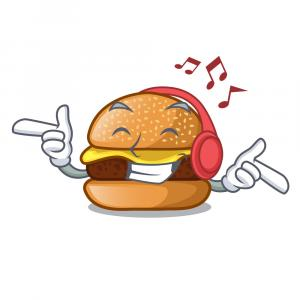 Music Vector Food: Mexico Food Character Play Music Vector