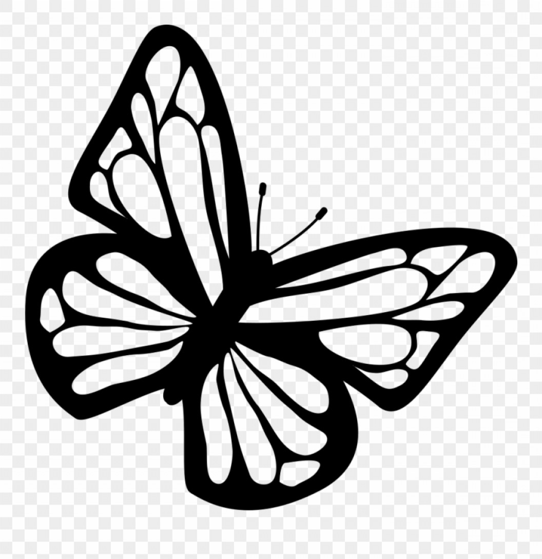 Vector Butterfly Clip Art: Mhjwibanner Black And White Library Clip Art At
