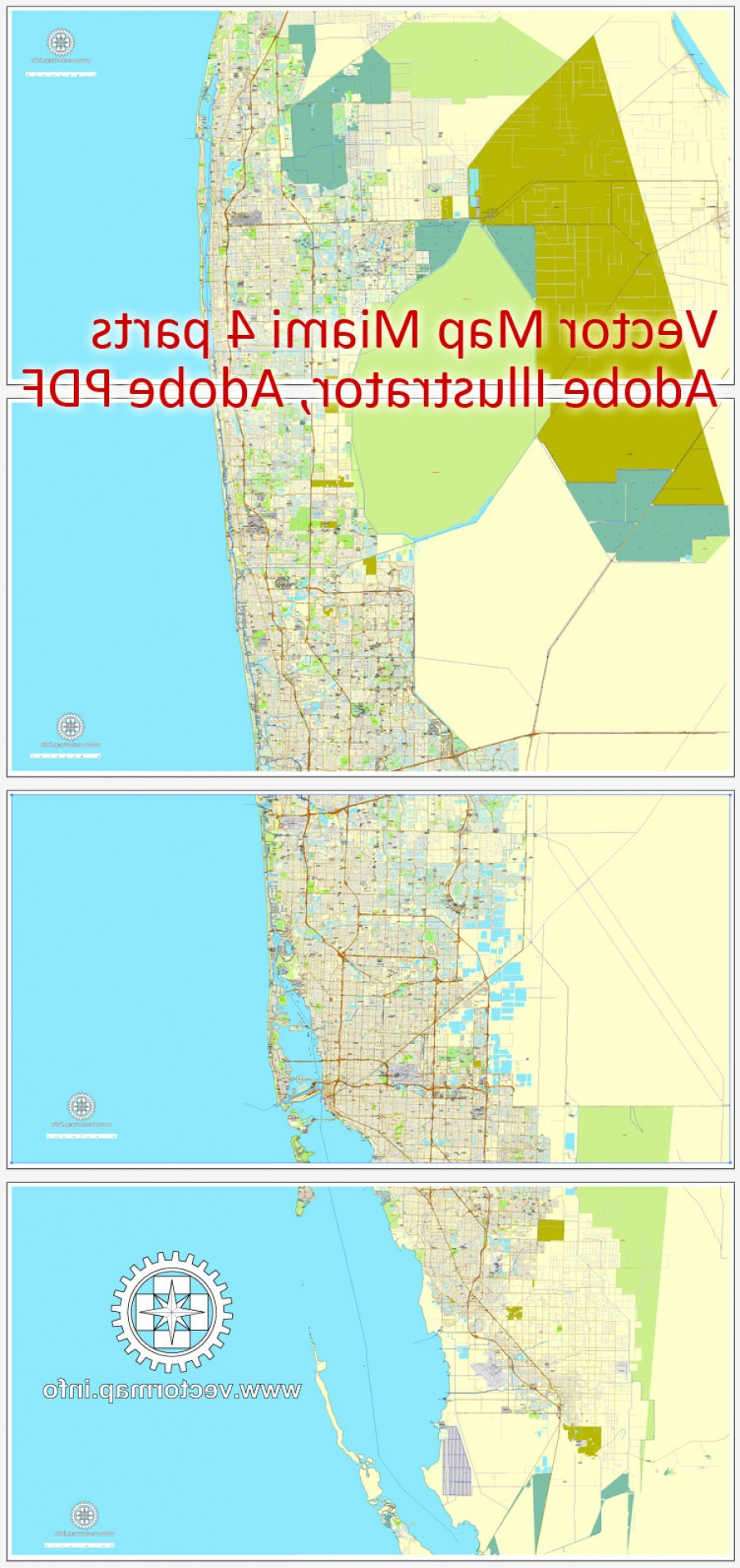 Midtown East Map Vector: Miami Florida Us Printable Vector Street City Plan Map Parts Full Editable Adobe Illustrator