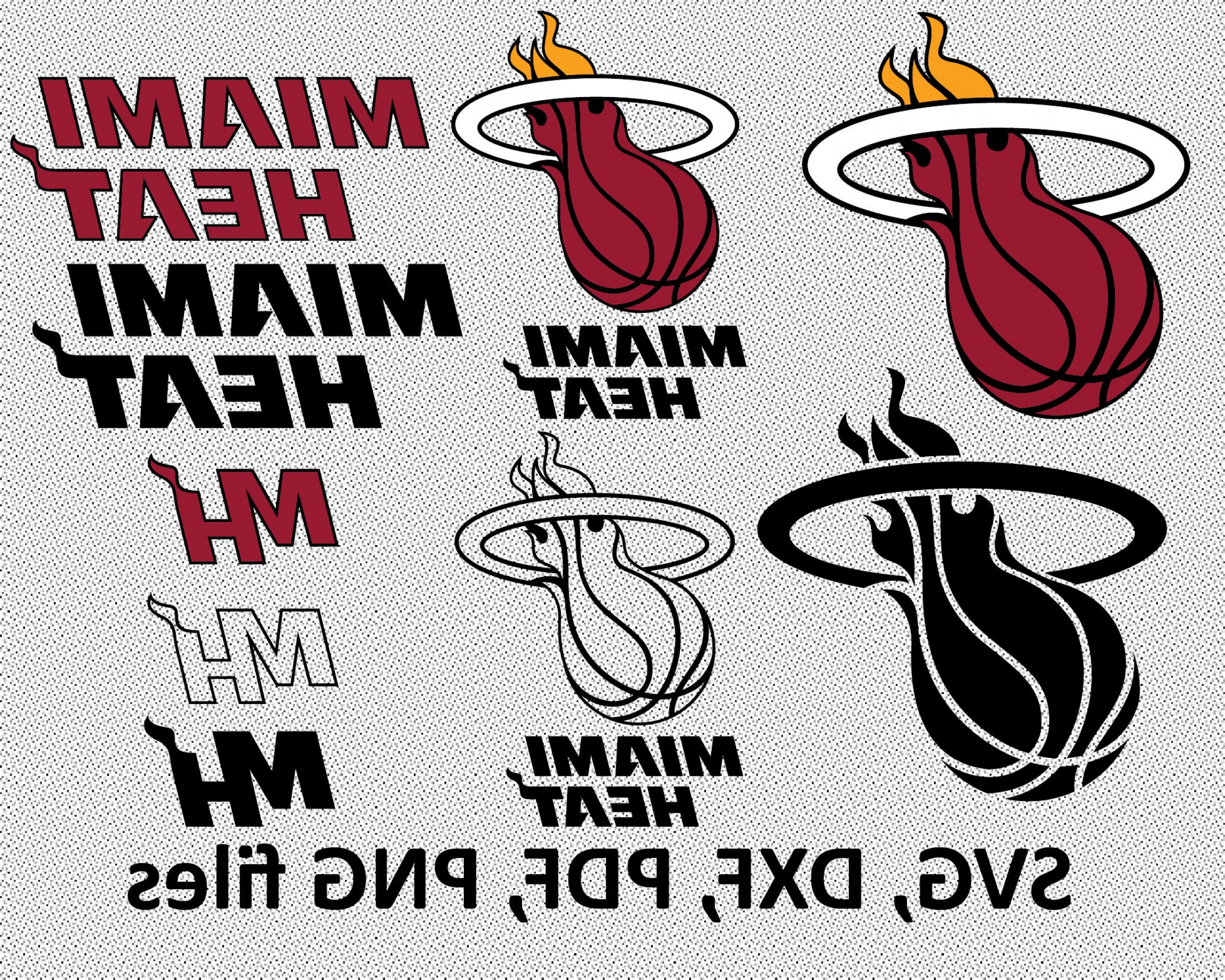 Vector NBA LogoArt: Miami Heat Svg Dxf Pdf Png Clipart Svg