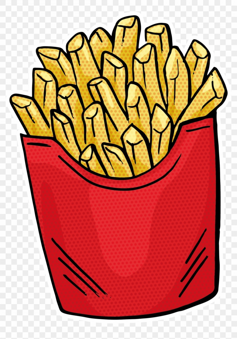 Fries Vector: Mianigdhfrench Fries Fast Food Hamburger Junk Food Food Vector Png