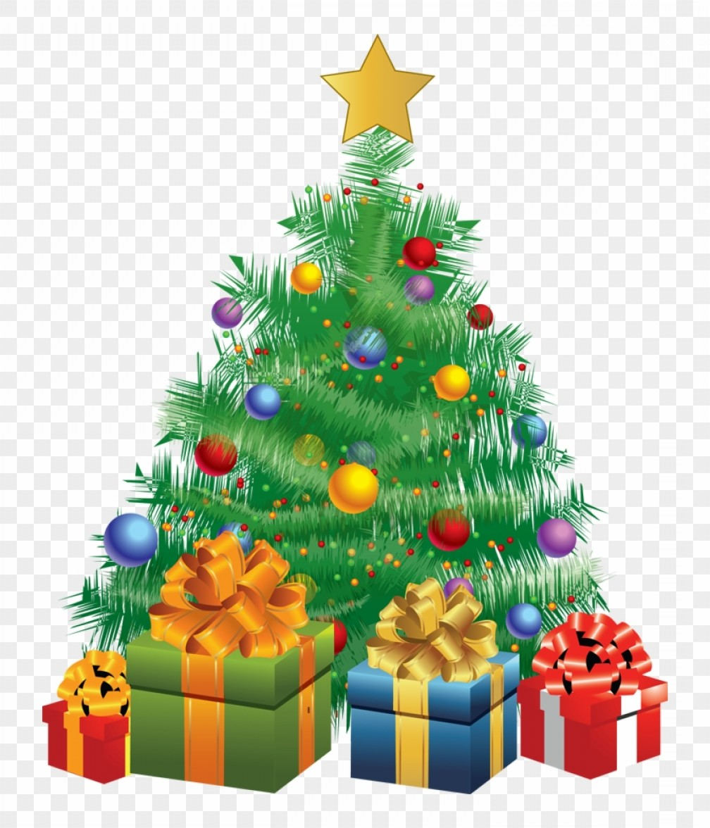 Christmas Tree Art Large Vector Format: Mibdgnzmchristmas Tree Christmas Tree With Gifts Animated