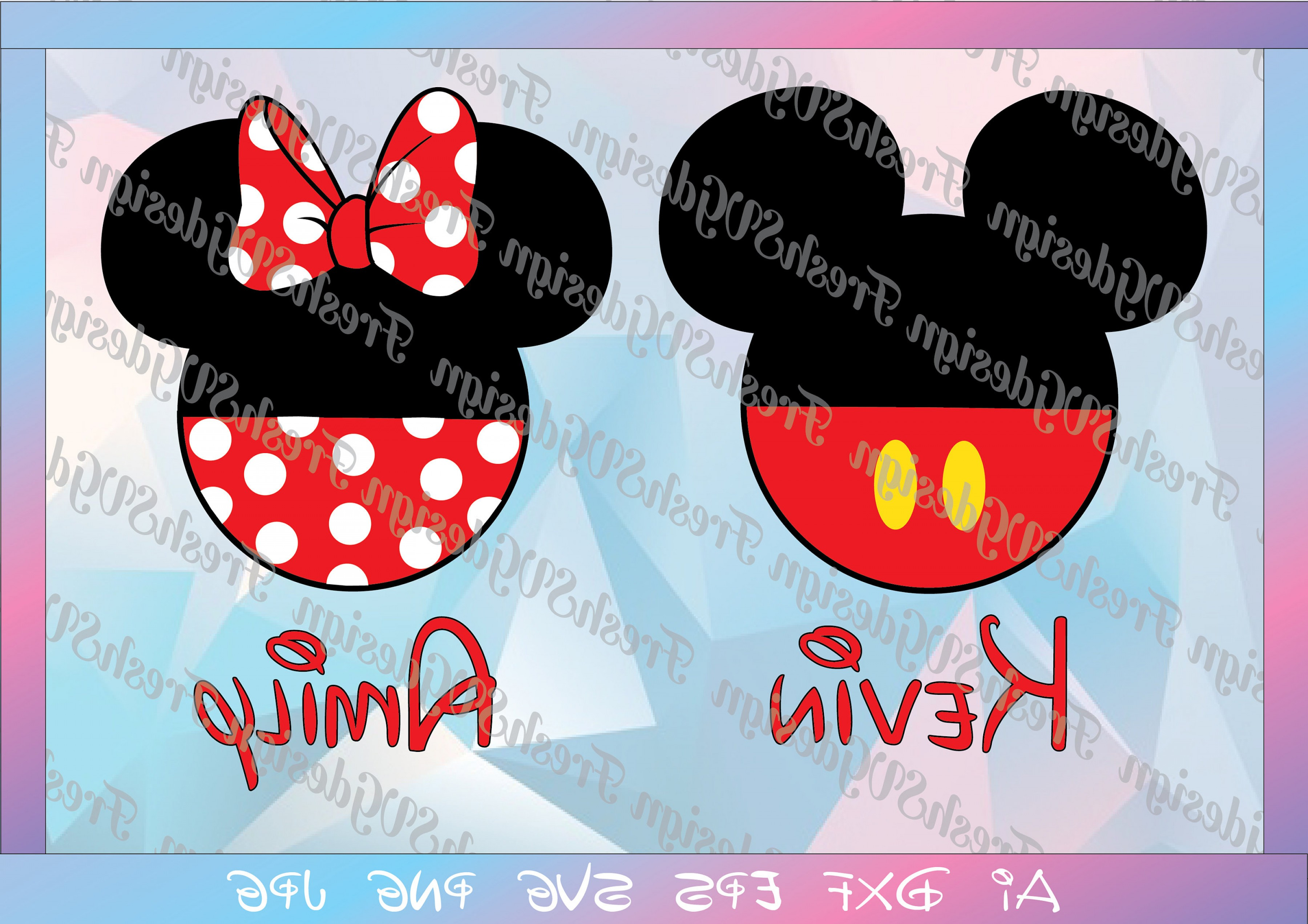Minnie Mouse Party Hat Vector: Mickey And Minnie Mouse Svg Disney