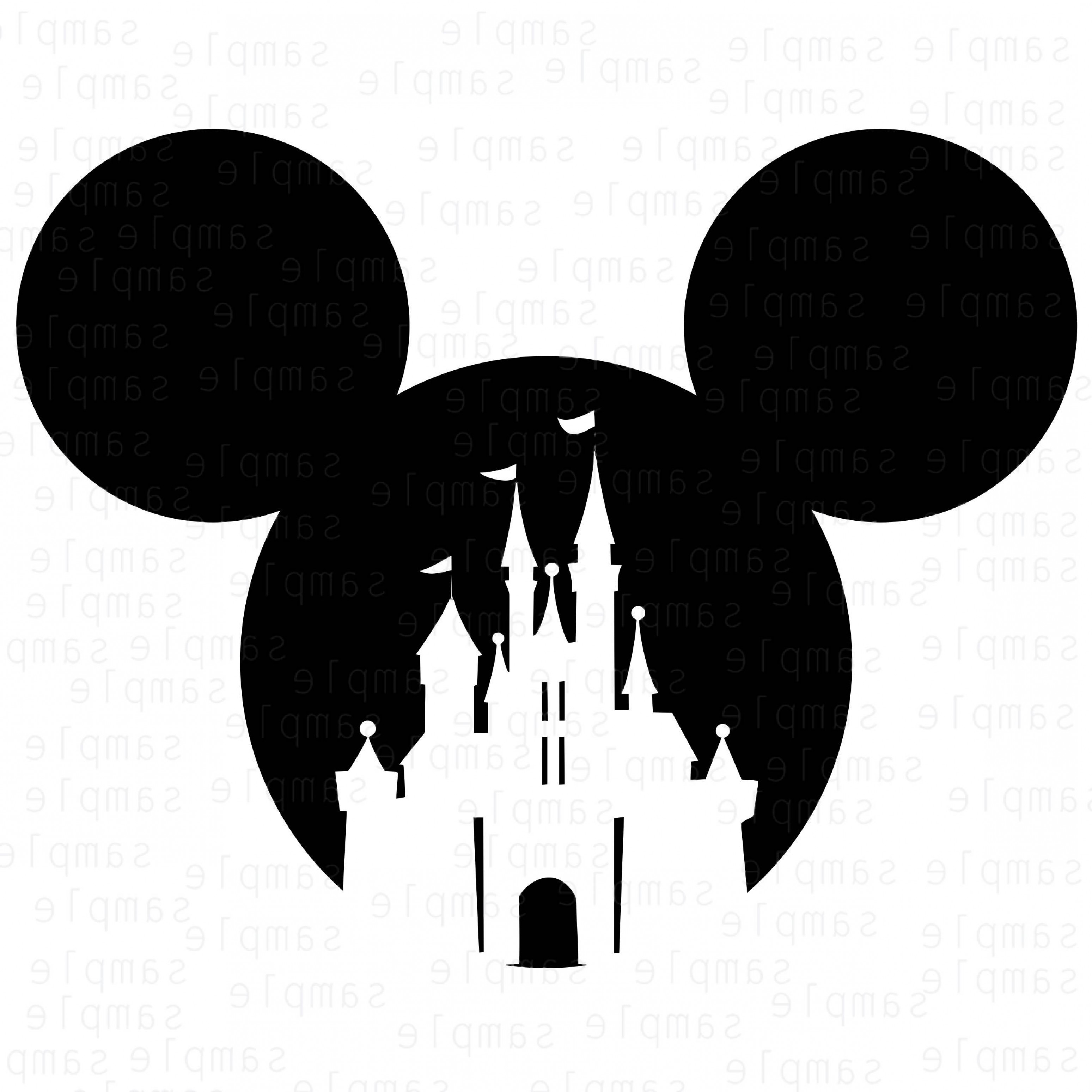 Mickey Vector: Mickey Castle Disney Svg Mickey Castle