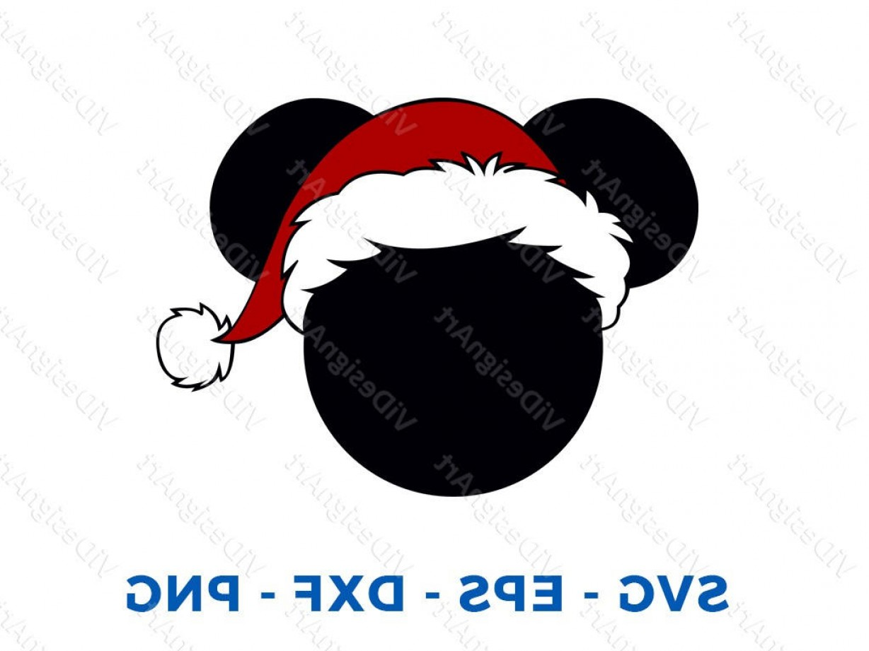 Minnie Mouse Party Hat Vector: Mickey Holiday Christmas Santa Hat Svg