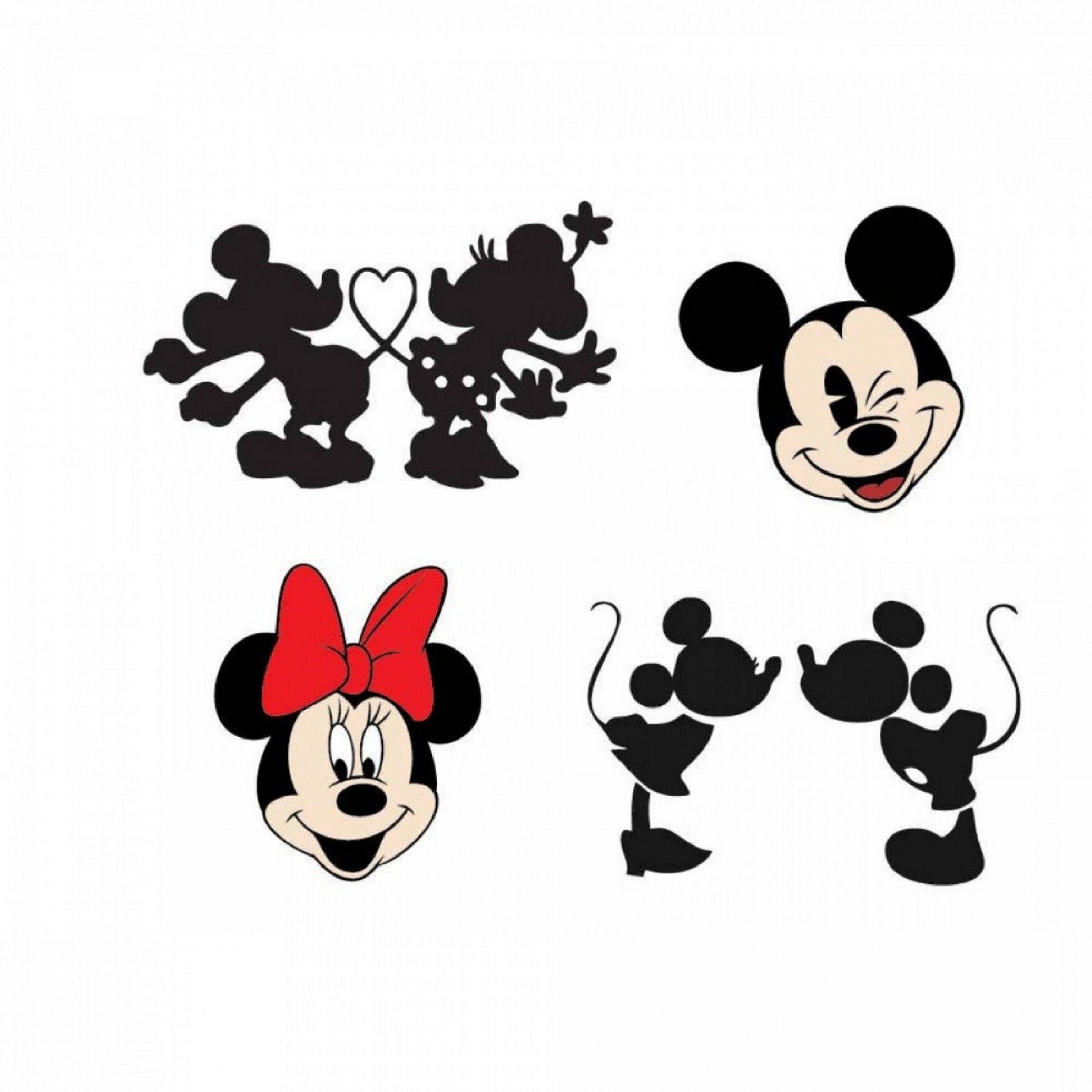 Vector Mickey Mouse Christmas: Mickey Minnie Mouse Svg Dxf Eps Vector