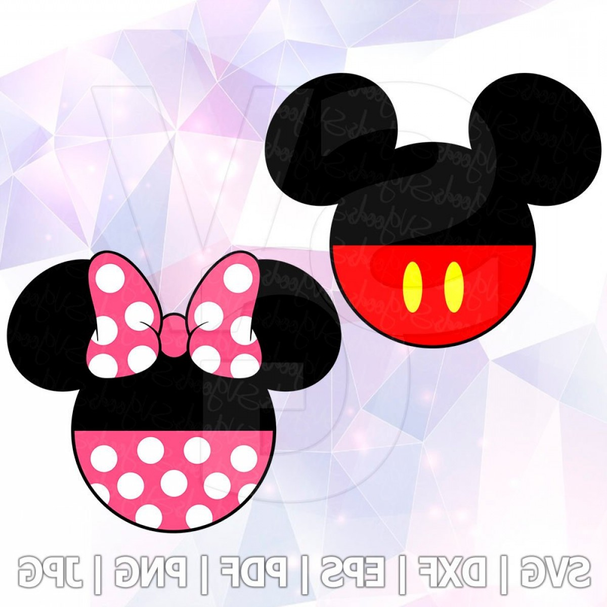 Minnie Mouse Party Hat Vector: Mickey Minnie Mouse Svg Dxf Vector Cut