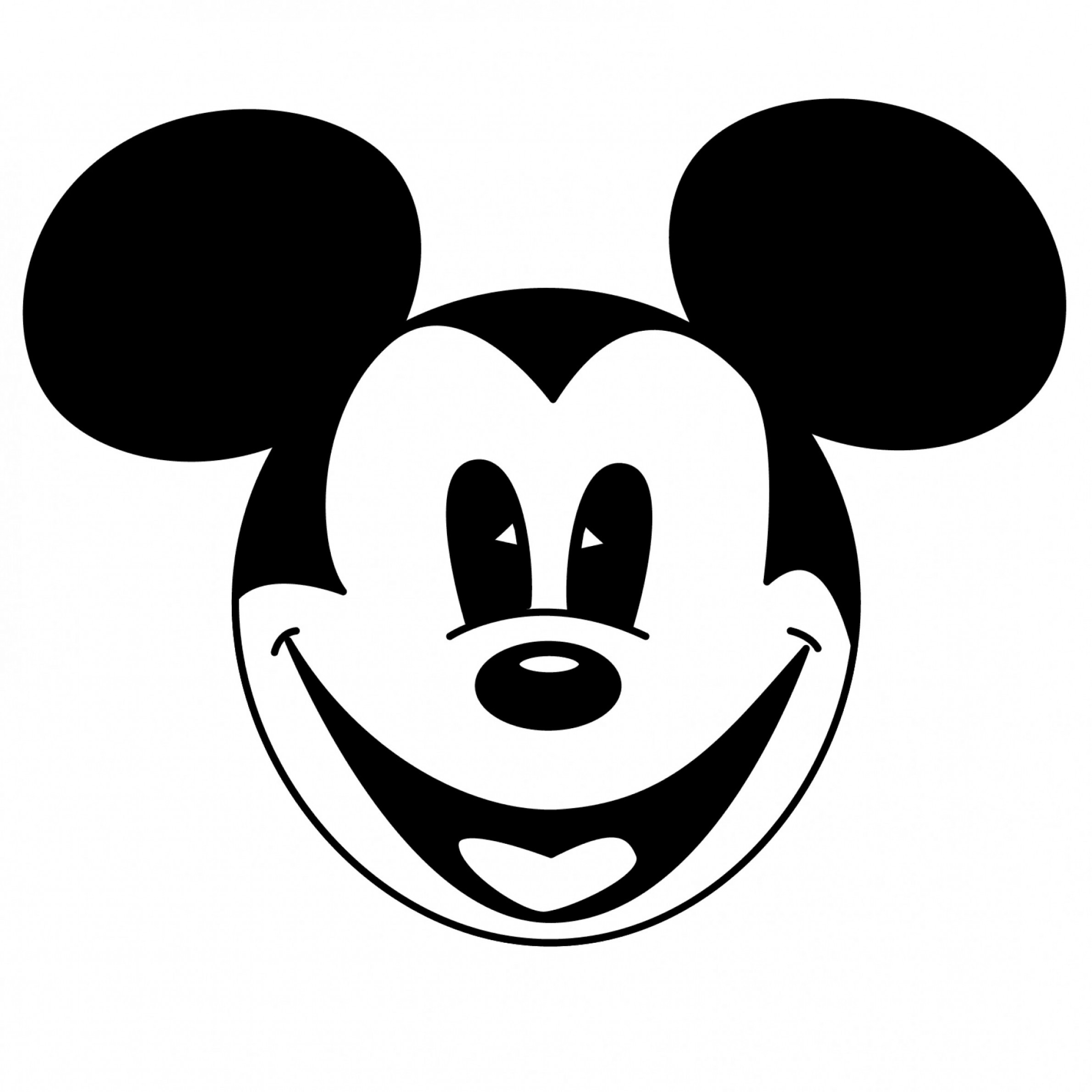 Mickey Vector: Mickey Mouse Clipart Black And White