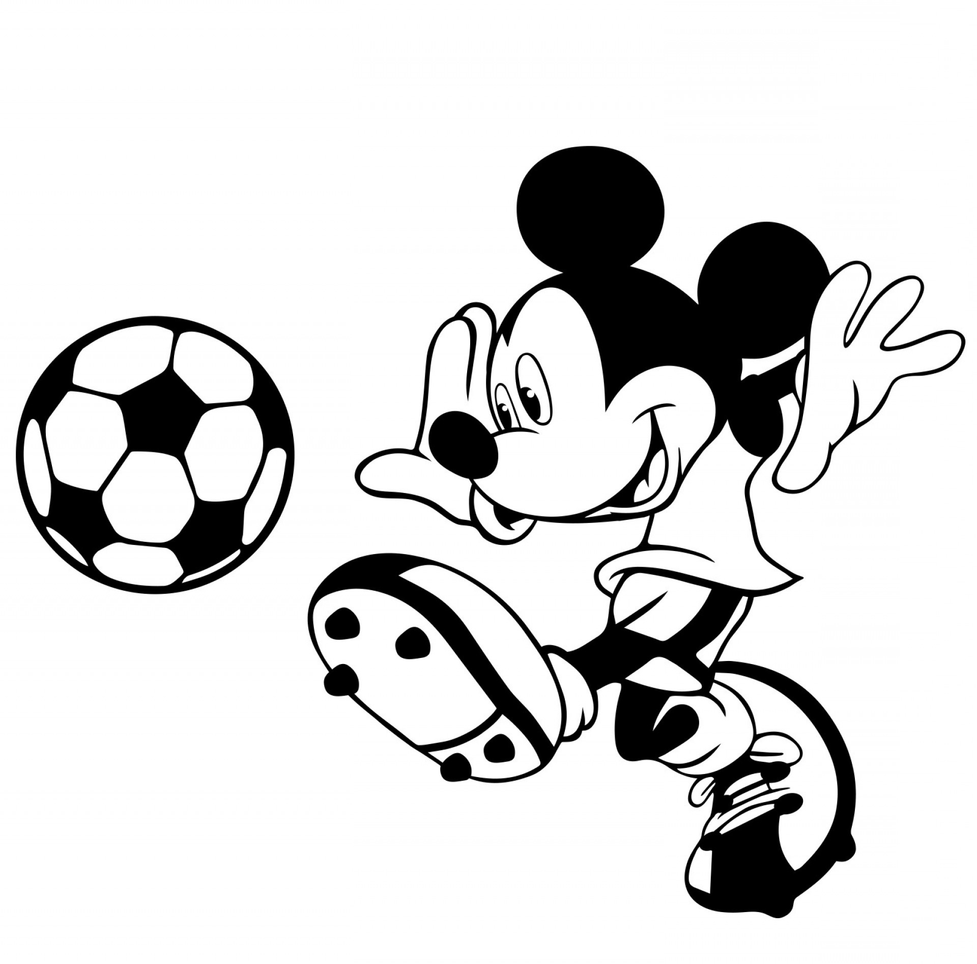 Minnie Mouse Vector Clip Art: Mickey Mouse Clubhouse Black And White Clipart