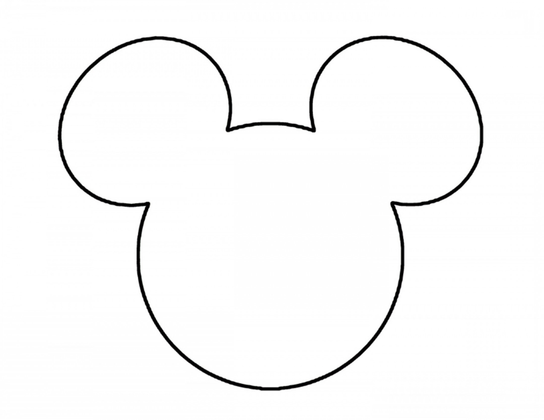 Minnie Mouse Head Vector: Mickey Mouse Ears Head Outline Disneyland Pinterest Clipart