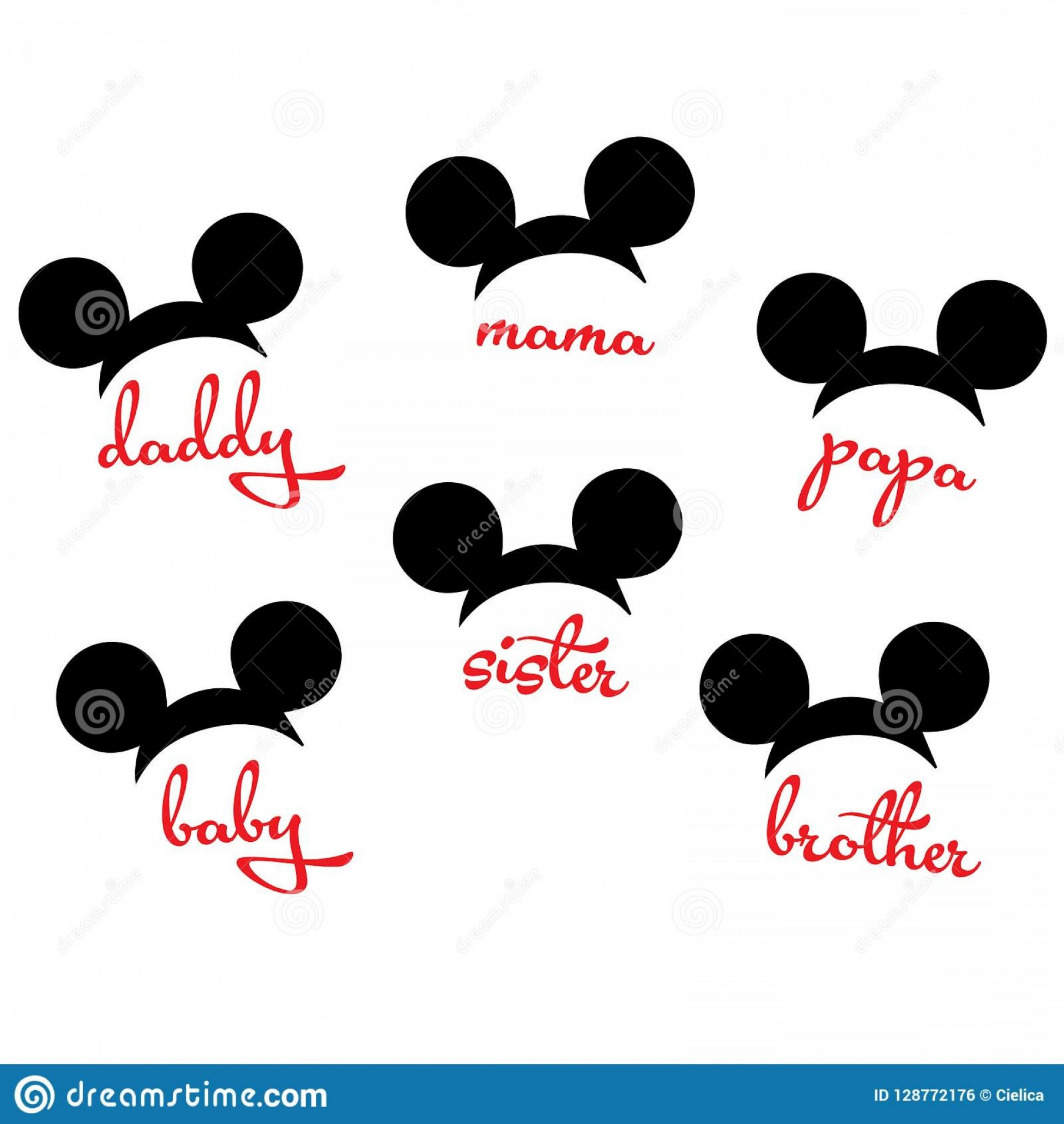 Minnie Mouse Head Vector: Mickey Mouse Minnie Mouse Head Family Vector Image Cutting File Mickey Mouse Minnie Mouse Head Family Vector Image Cutting File Image