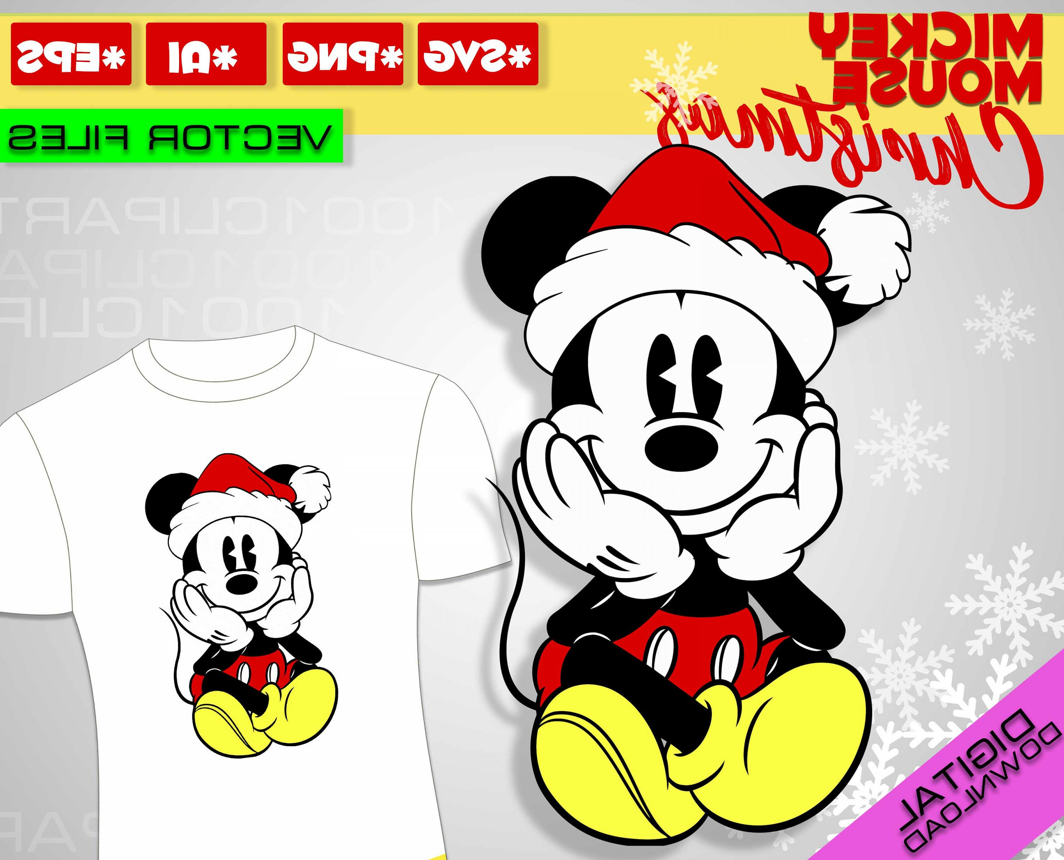 Vector Mickey Mouse Christmas: Mickey Mouse Svg Christmas Mickey Mouse