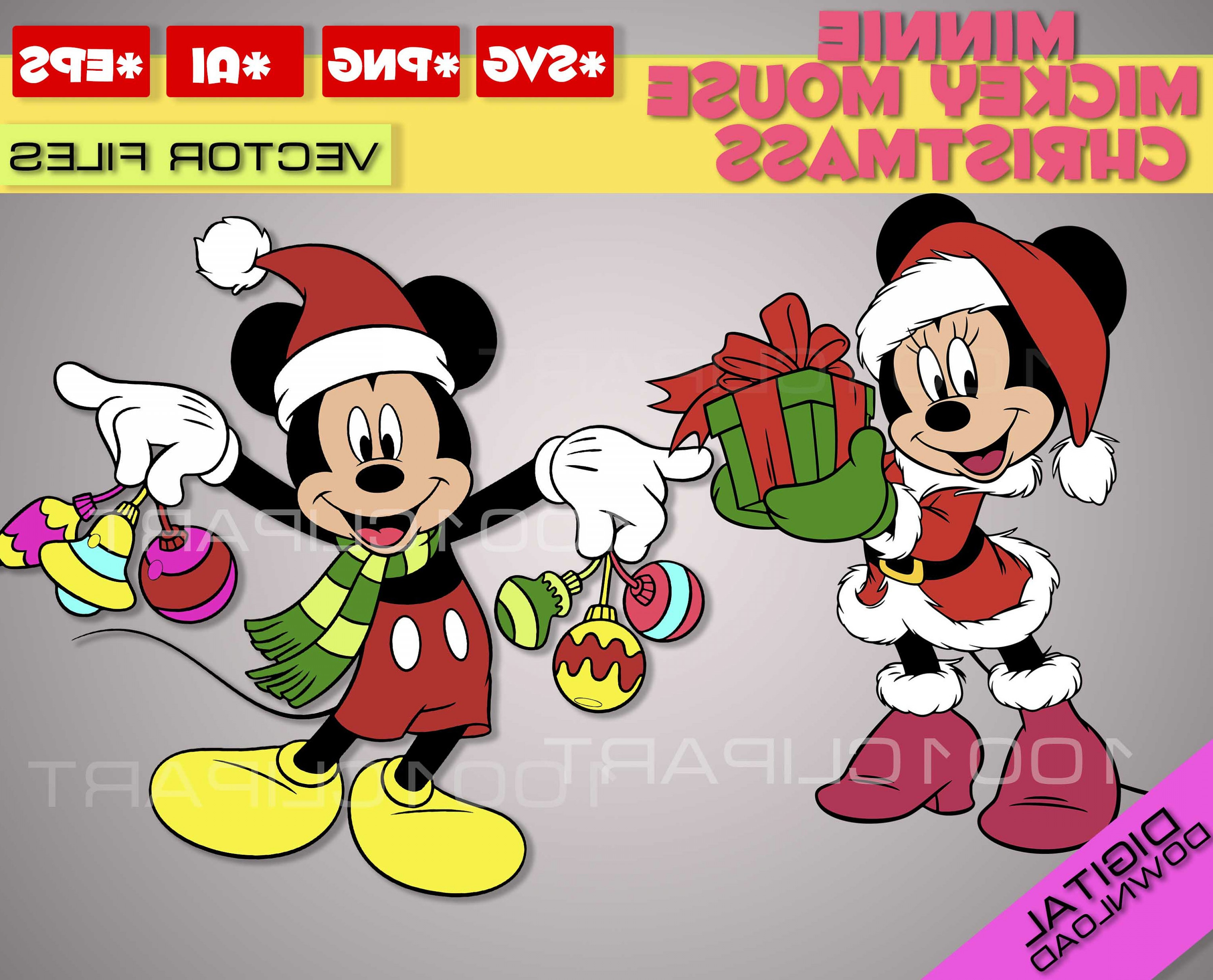 Vector Mickey Mouse Christmas: Mickey Mouse Svg Christmas Minnie Mouse
