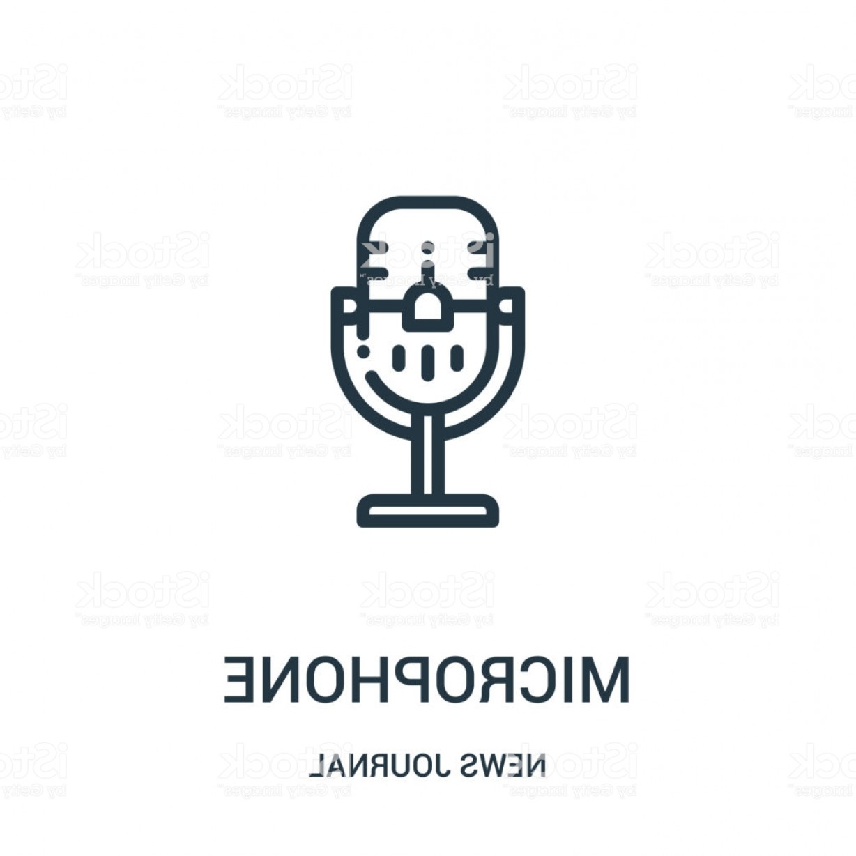 News Microphone Icon Vector: Microphone Icon Vector From News Journal Collection Thin Line Microphone Outline Gm