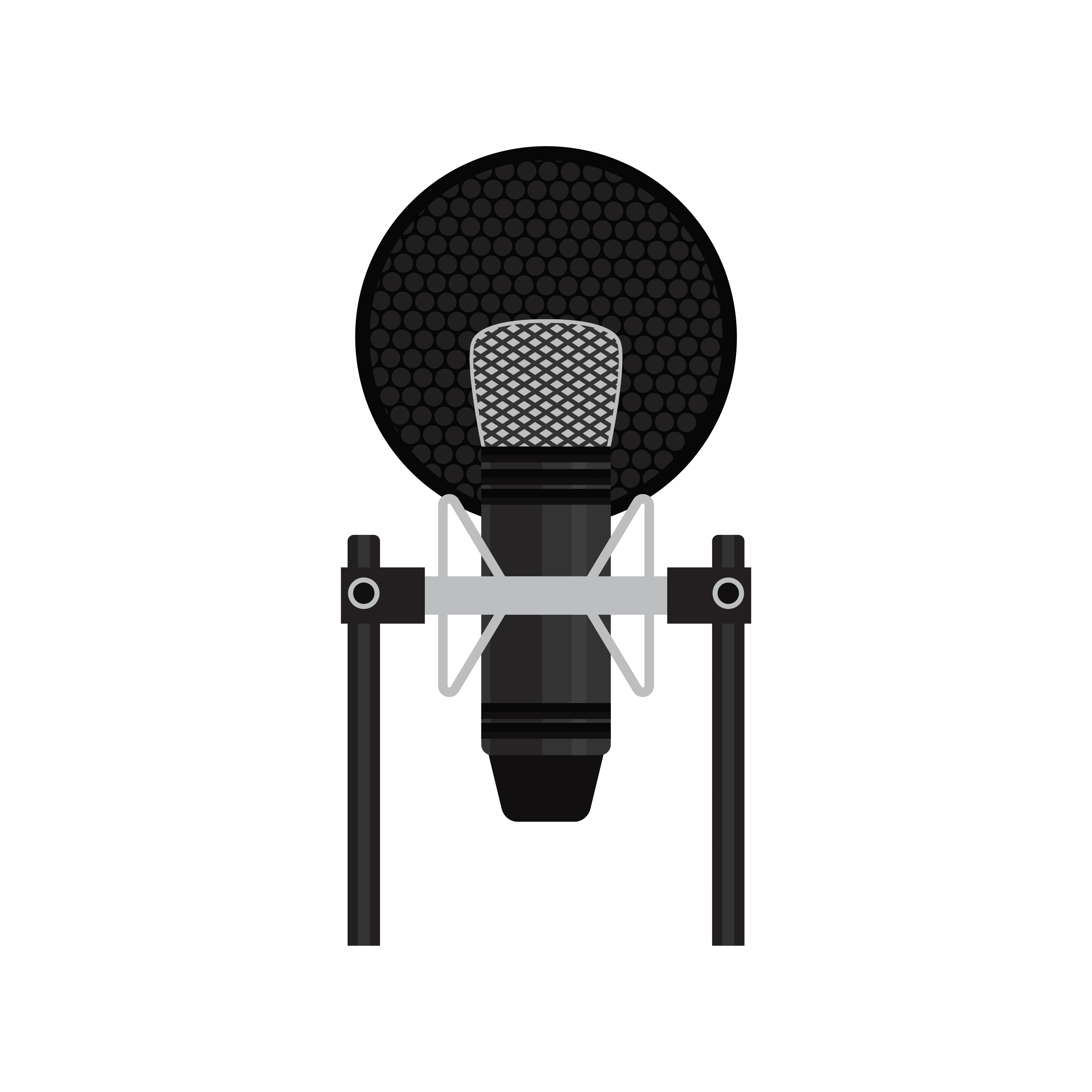 Mics Vector Designs: Microphone Isolated On White Background