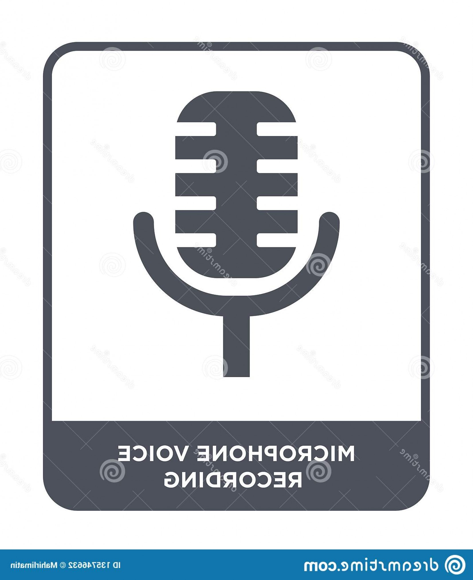 Microphone Recording Vector: Microphone Voice Recording Icon Trendy Design Style Isolated White Background Vector Simple Modern Flat Symbol Image