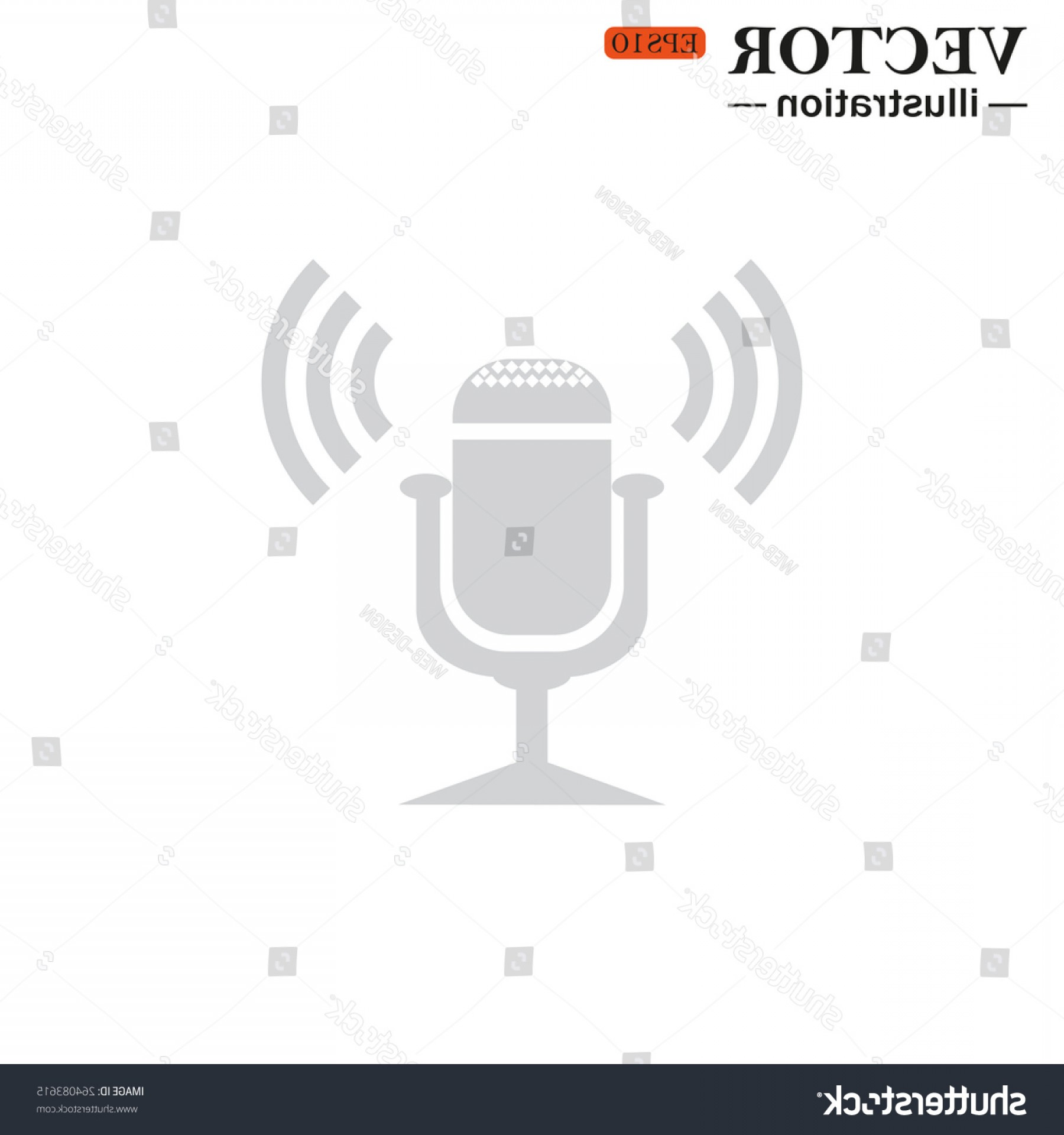 Microphone Recording Vector: Microphone Voice Recording Vector Illustration Eps
