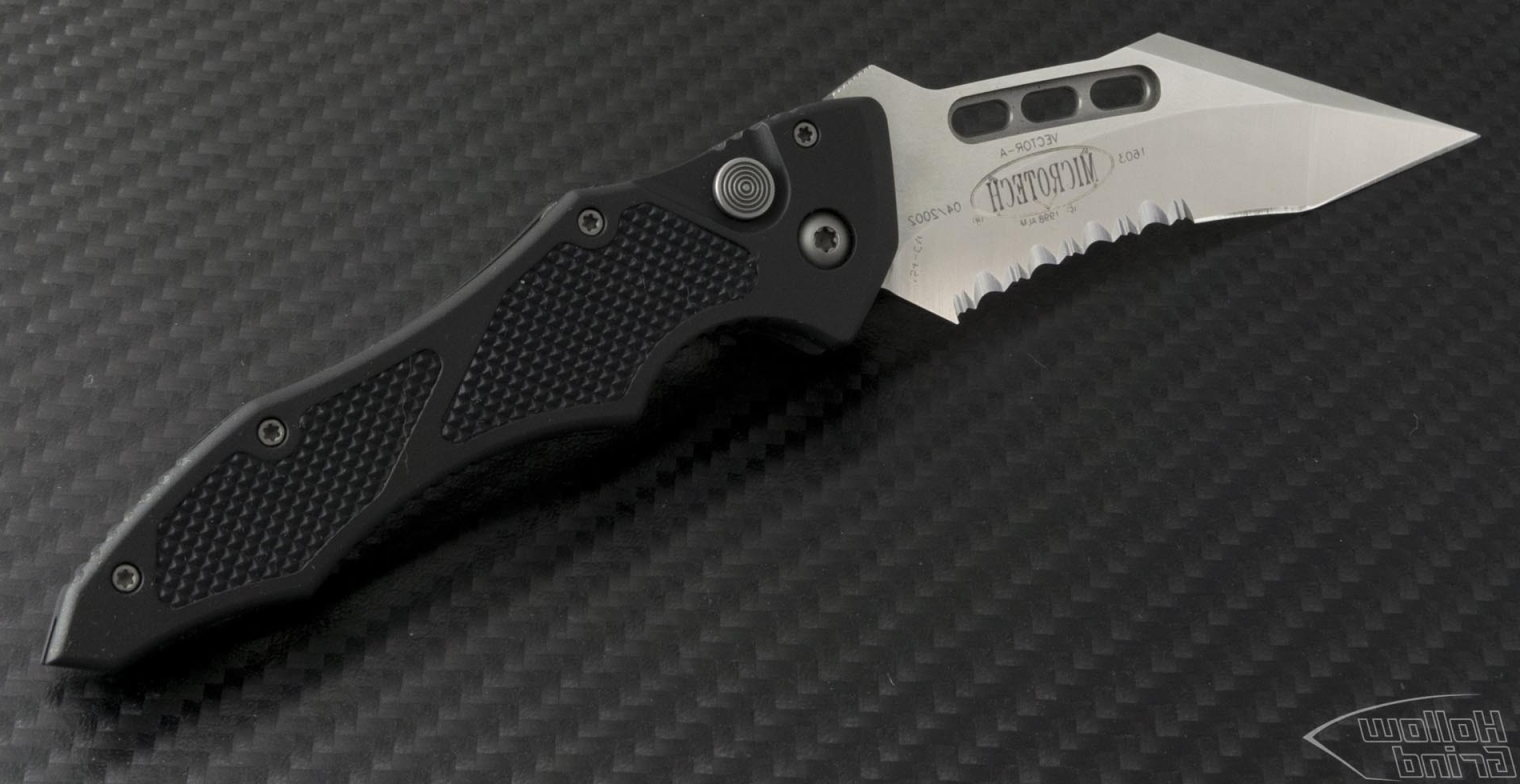 Microtech Vector: Microtech Knives Vector Se Automatic Folder Sa Knife In Satin Part Serr Cm Vnt