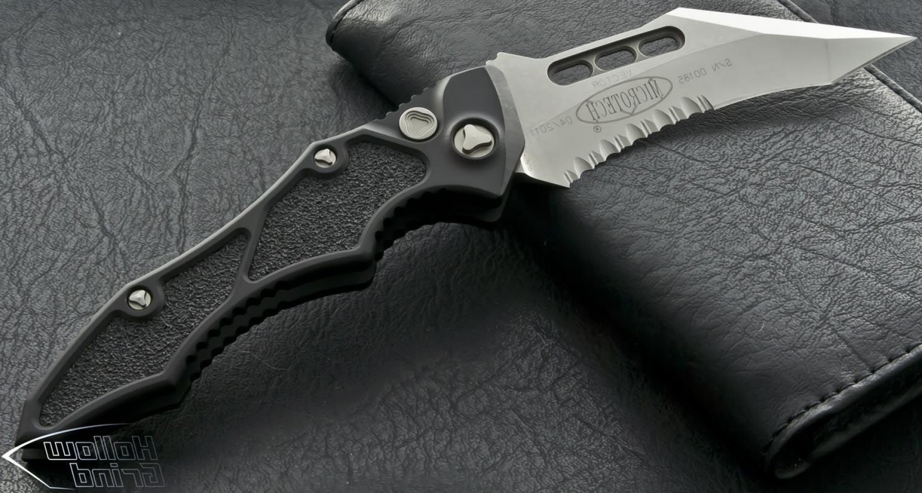 Microtech Vector: Microtech Vector Stonewash Serrated