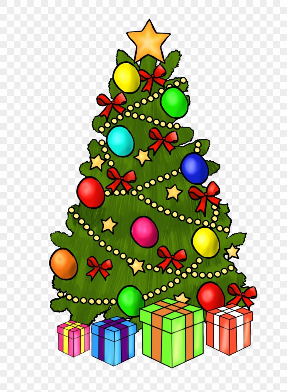Christmas Tree Art Large Vector Format: Miggzmkichristmas Merry Christmas And Happy New Year Clipart Christmas Tree Clip