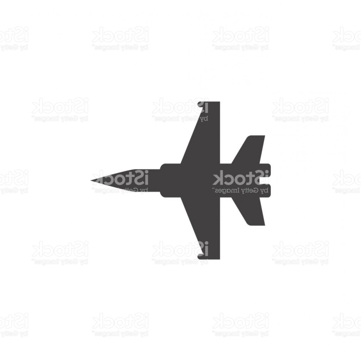 Vector Jet Fighter: Military Aircraft Icon Vector Plane Solid Symbol Illustration Jet Fighter Pictogram Gm