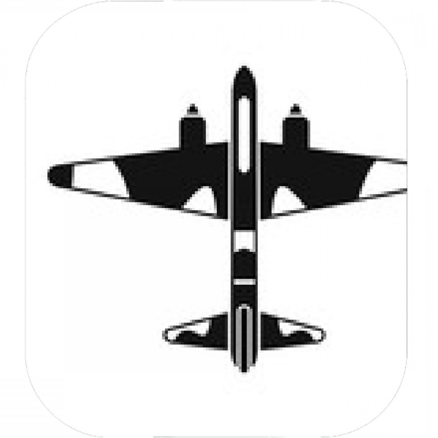 Old School Airplane Fighter Silhouette Vector: Military Fighter Aircraft Icon Simple Illustration Of Vector Icon For Web