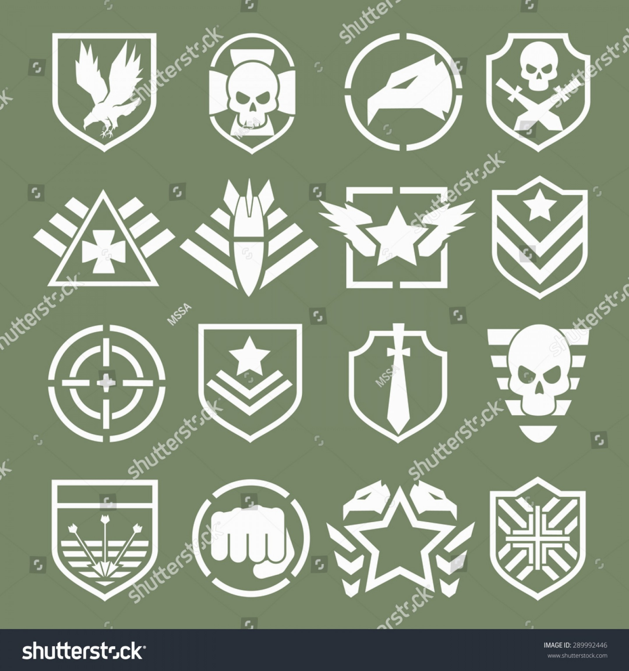 Us Special Forces Vector Files: Military Logos Special Forces Set Army