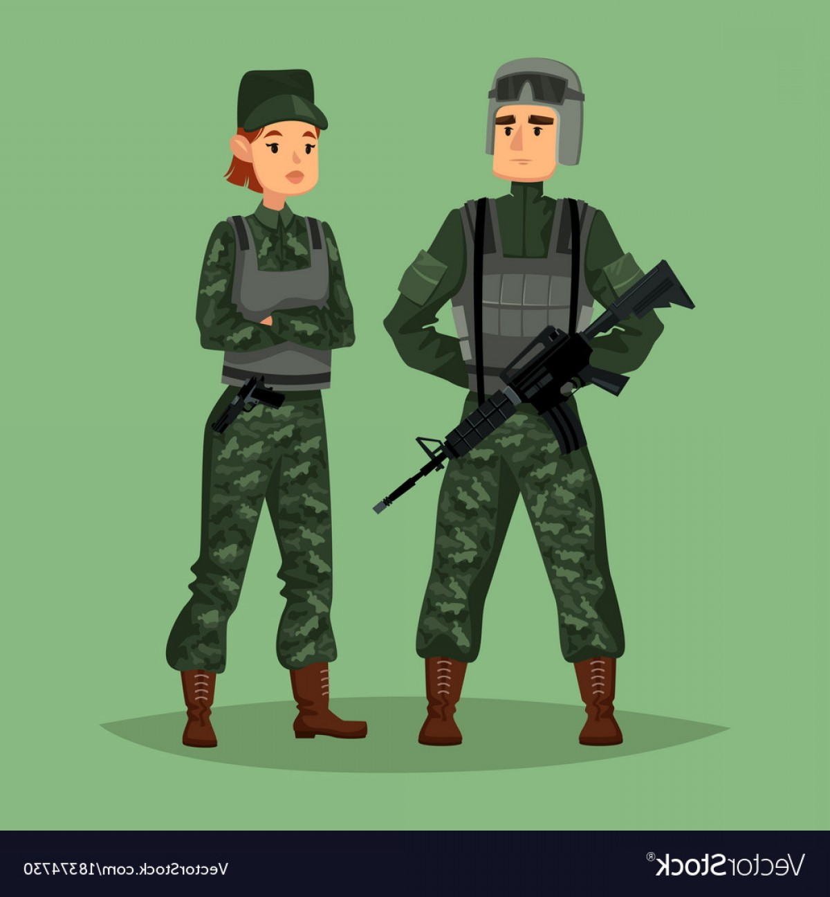 Us Special Forces Vector Files: Military Man And Woman Soldiers Special Forces Vector