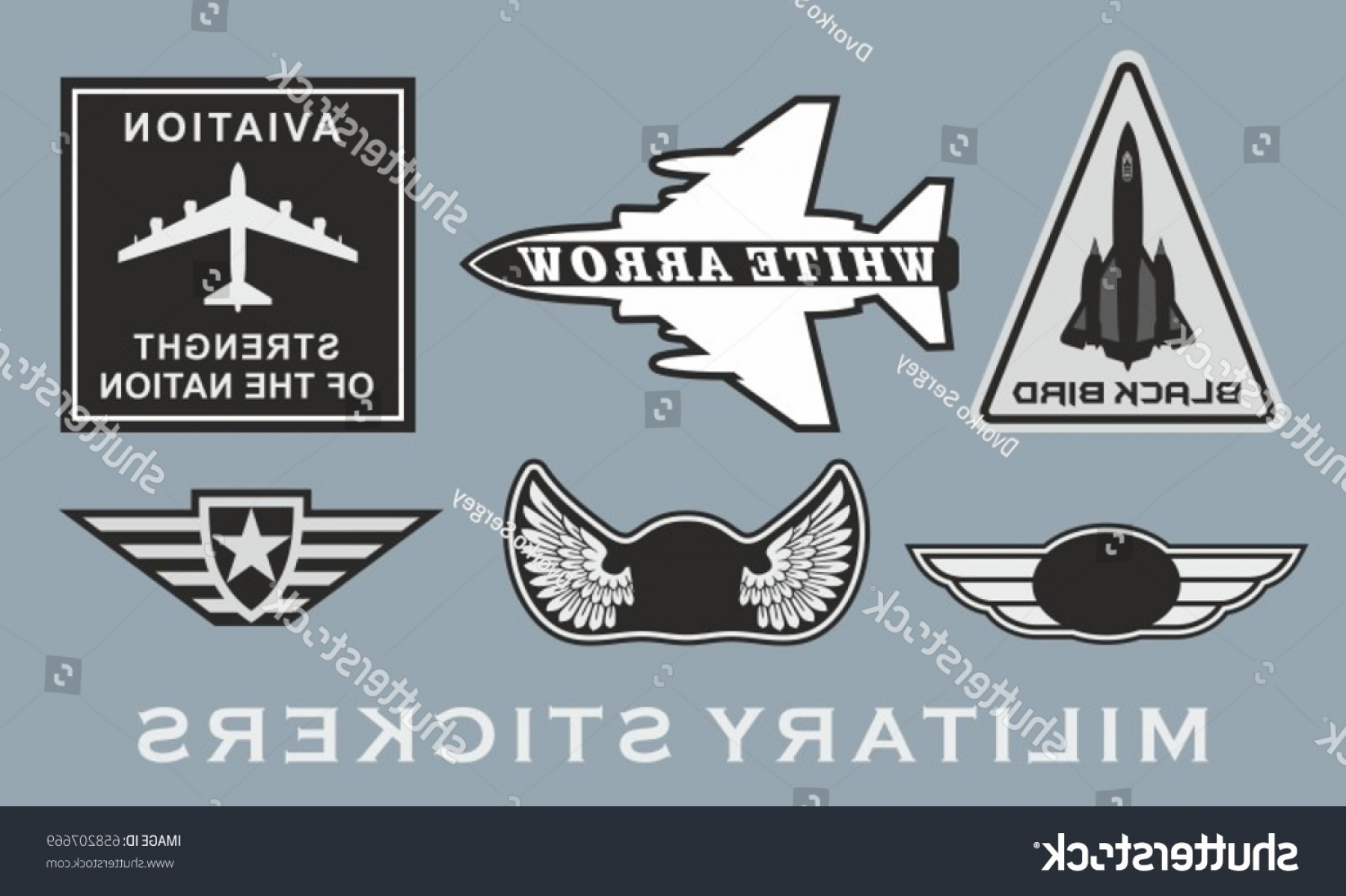 USAF Vector: Military Stripes Theme Us Air Force