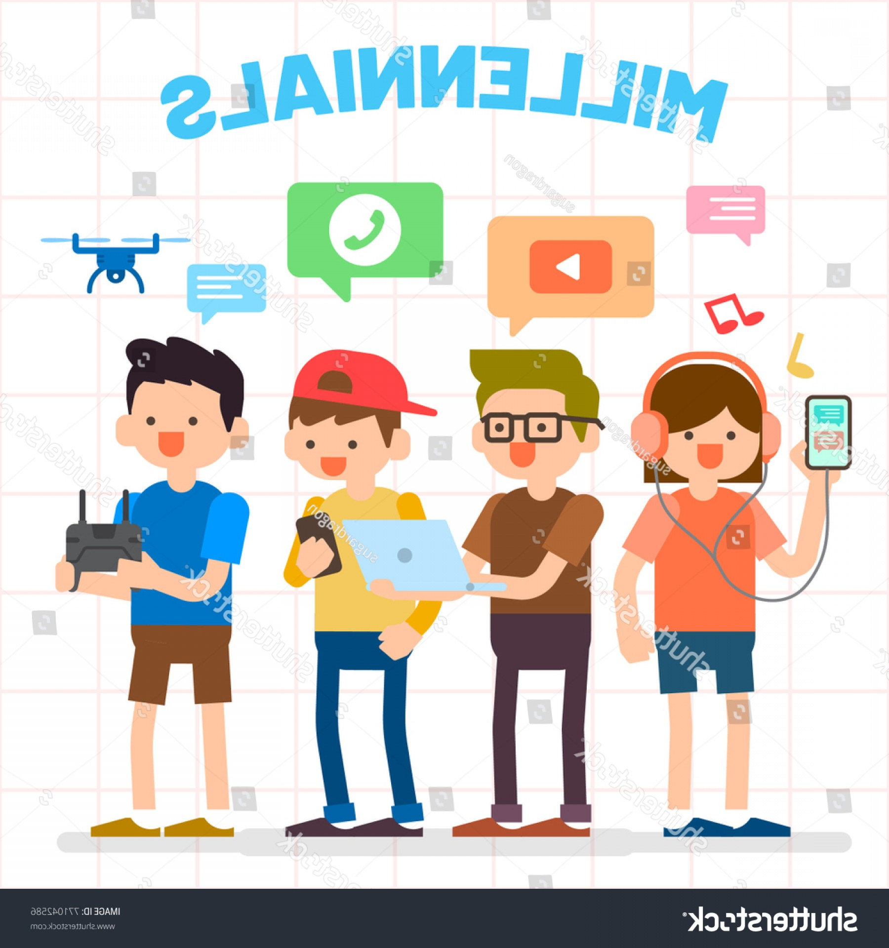 Millennial Vector: Millennials Illustration Group People Generation Y