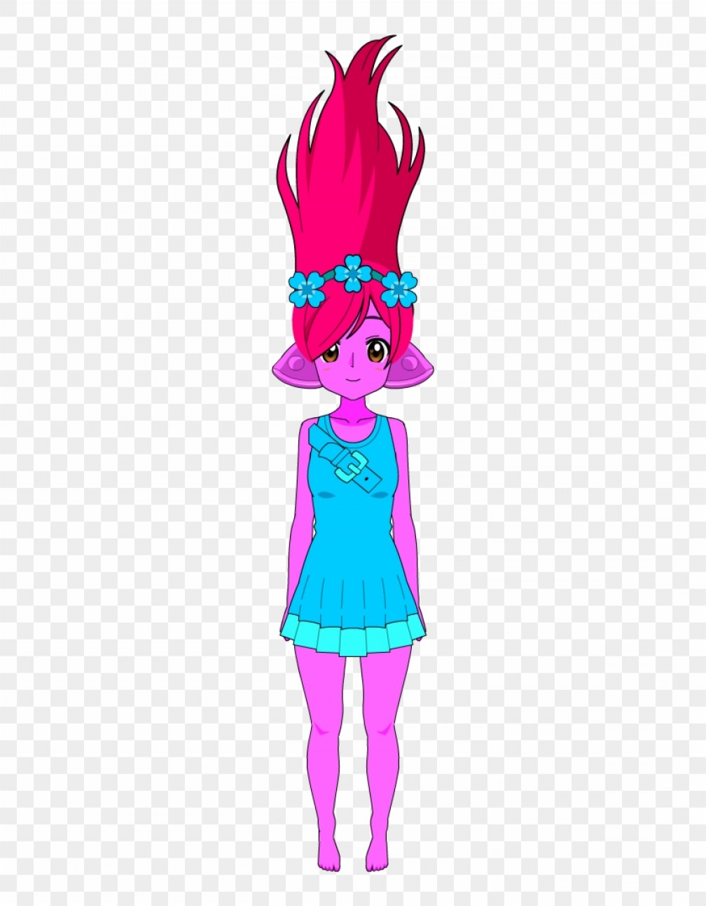 Trolls Poppy And Branch Vector Art: Mimnbhdapoppy In Kisekae Form By Grimkaloonka Cartoon